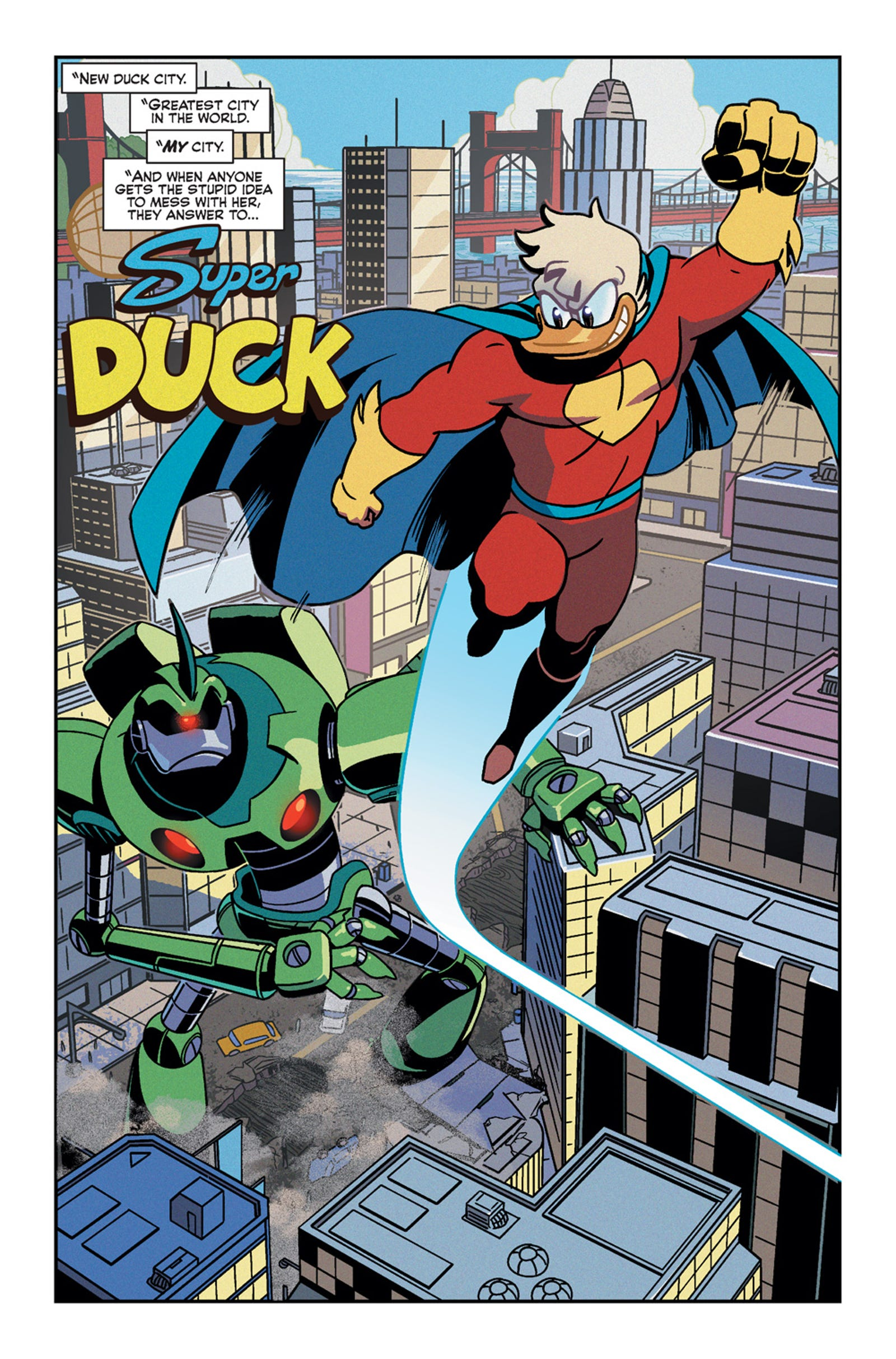 It's Super Duck v Dapper Duck in our exclusive preview of Super Duck #1!
