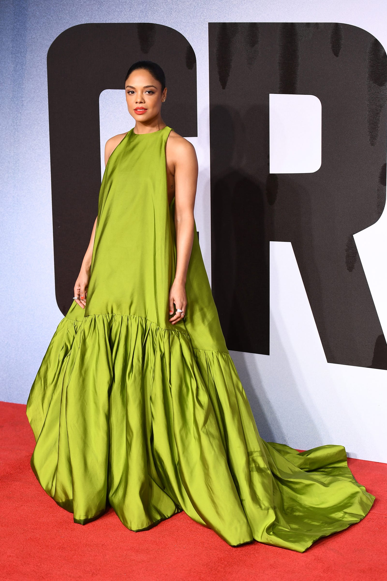 Tessa Thompson attends the European Premiere of 'Creed II' on November 28, 2018 in London, England.