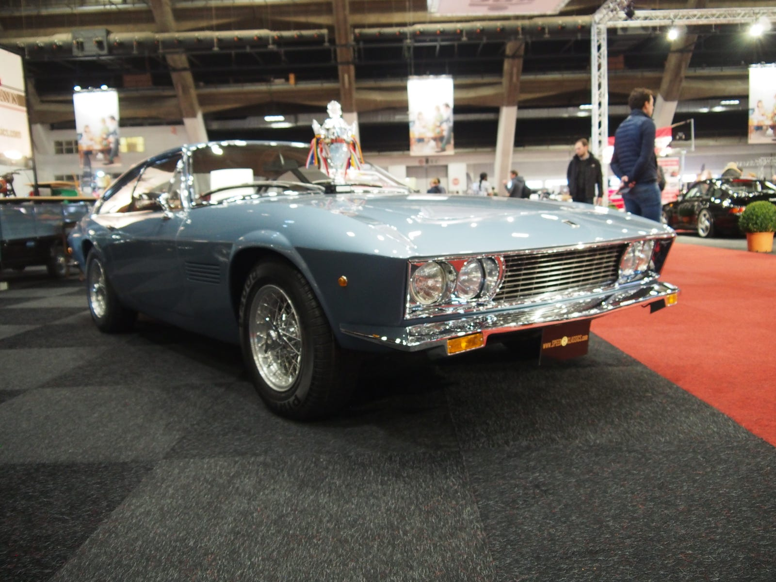 This 1970 Monteverdi 375L High Speed was a magnificent beast. So much so, my camera seemed unable to focus on it. Powered by a 7.2 liter V8, so I believe the high speed part.