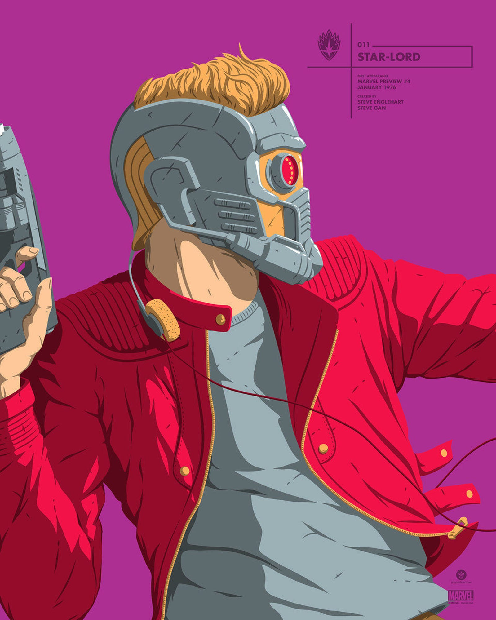 """Star-Lord"" Portrait Series by Florey"