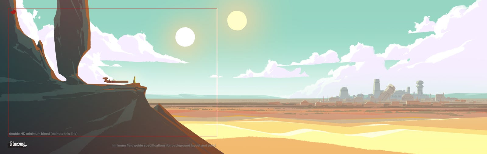Background art from several of the Galaxy of Adventures animated shorts released so far.