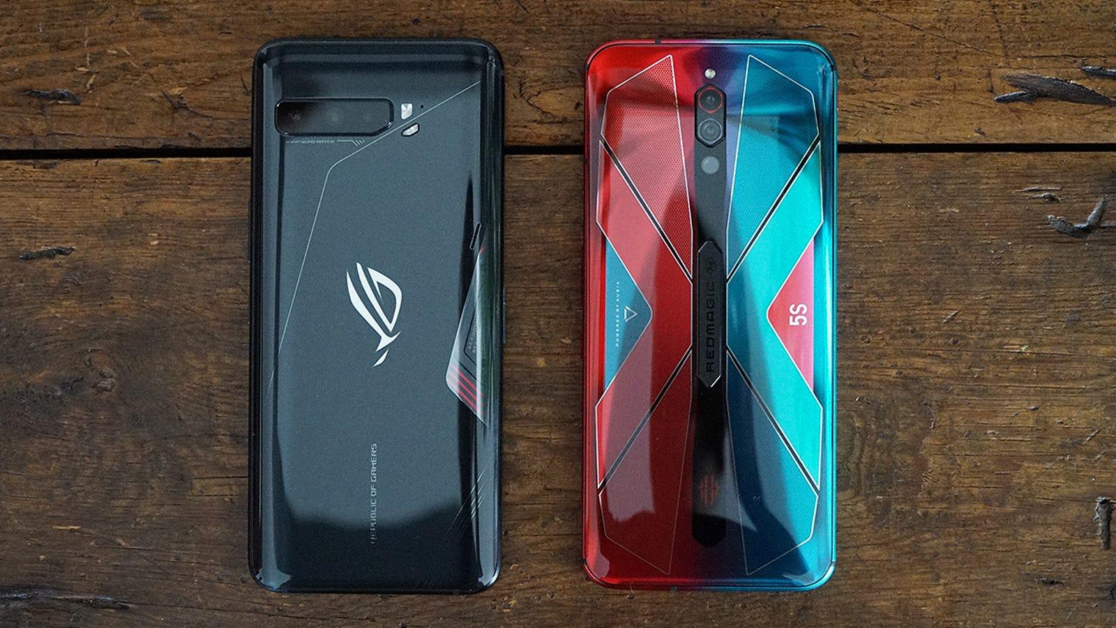 El ZTE Nubia RedMagic 5S, comparado con el Asus ROG Phone 3