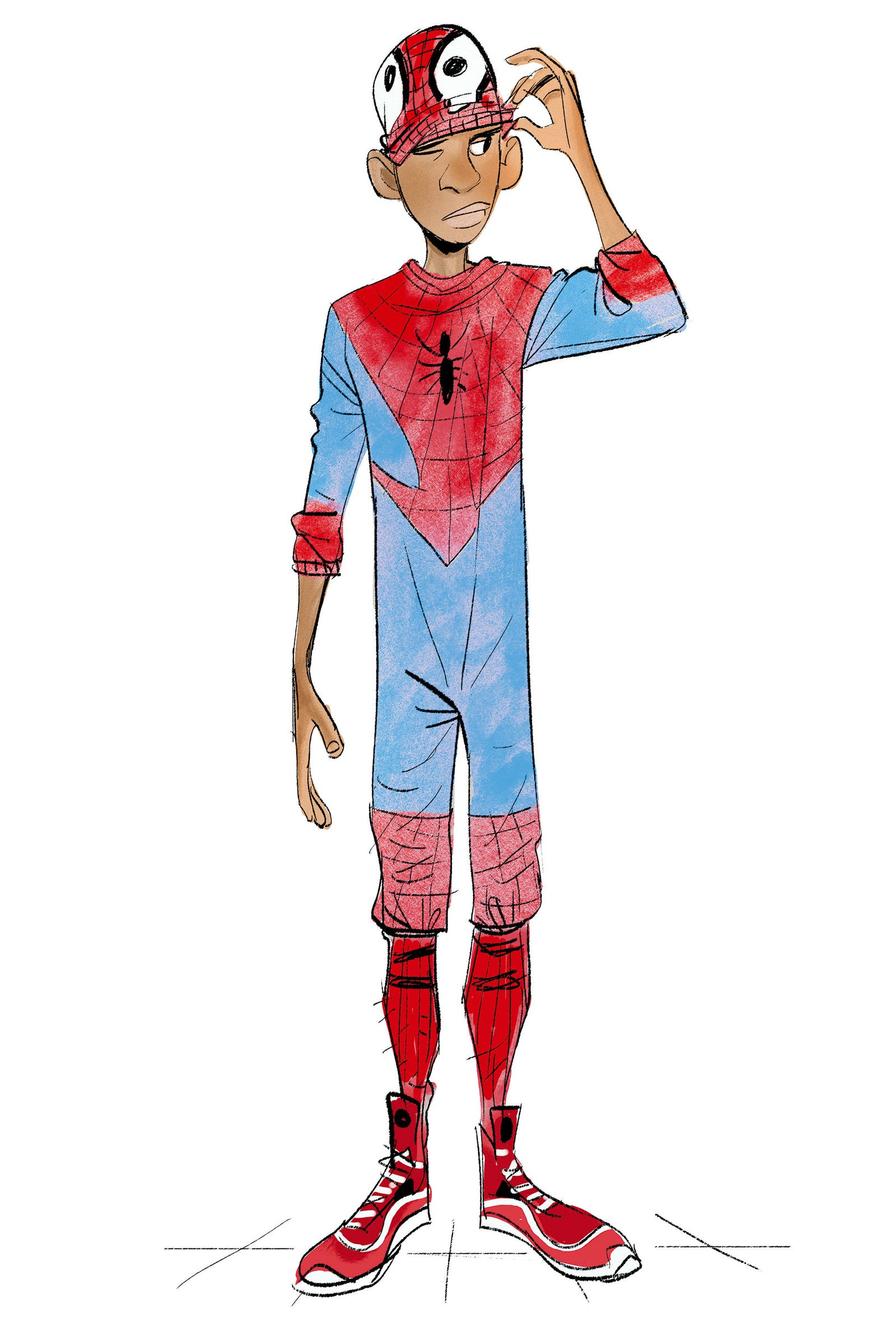 A selection of art from Spider-Man: Into the Spider-Verse - The Art of the Movie by Ramin Zahed, published by Titan Books.