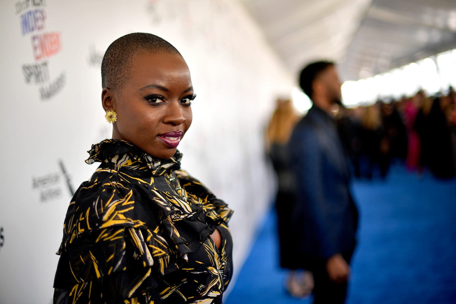 Danai Gurira gives us her trademark gaze. (Matt Winkelmeyer/Getty Images)