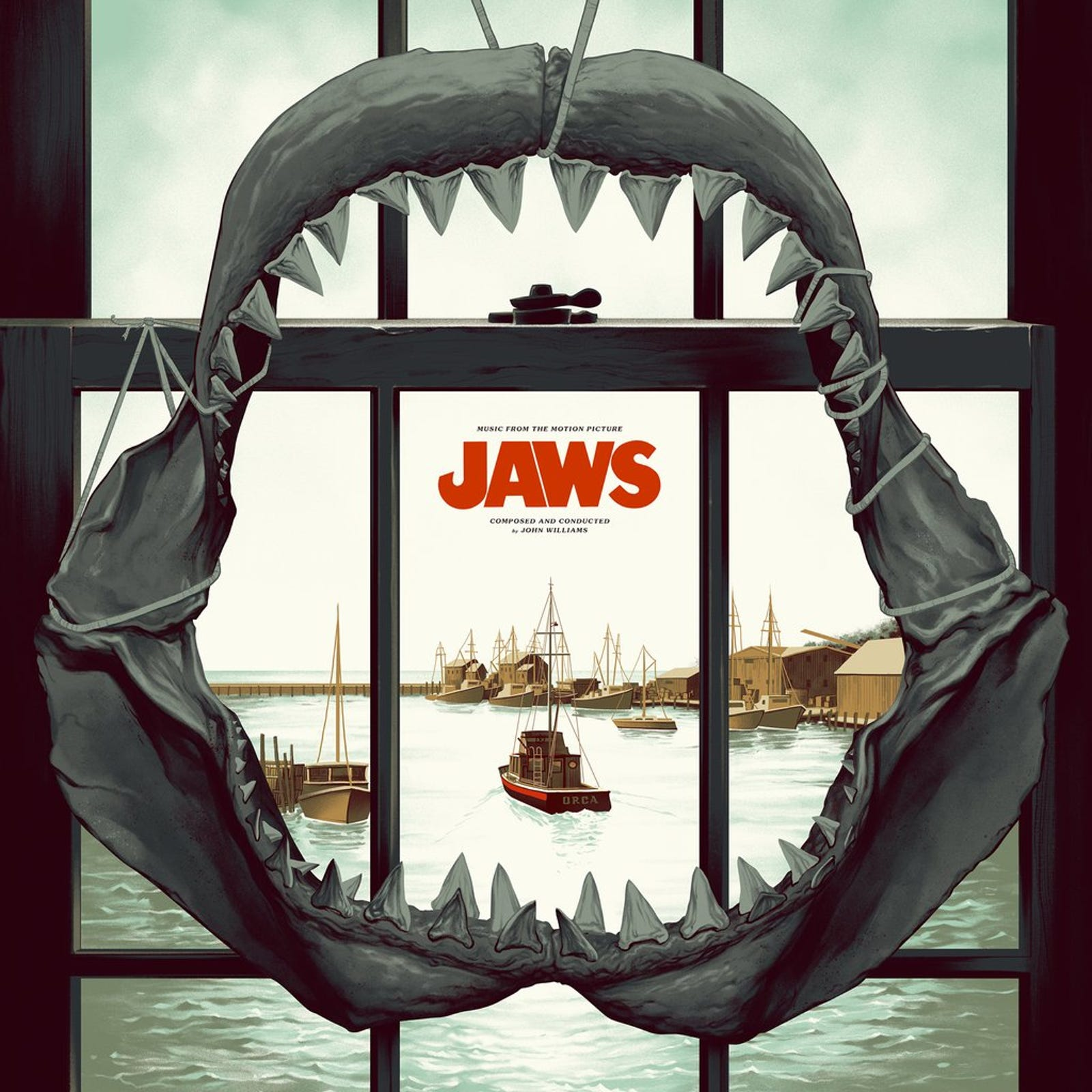 The Jaws vinyl cover