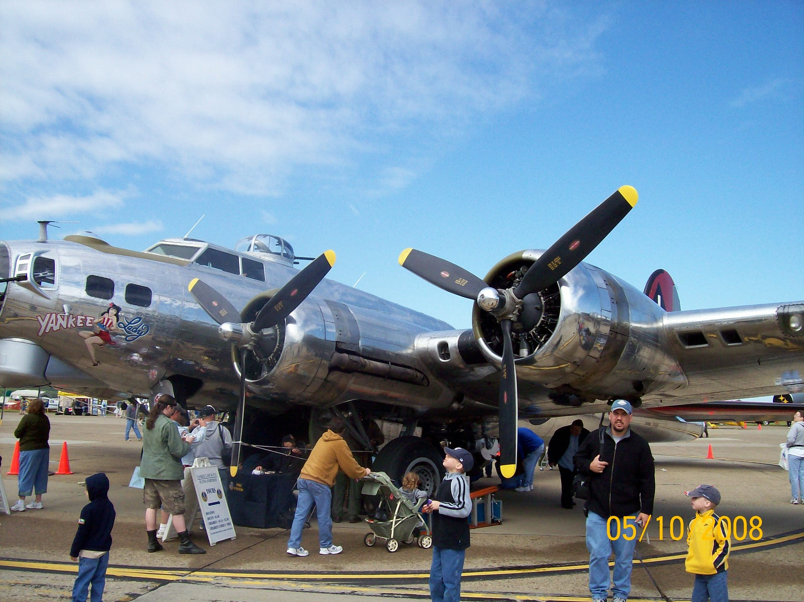Yankee Lady is a B-17G–110–VE, completed by Lockheed's Vega division in July of '45