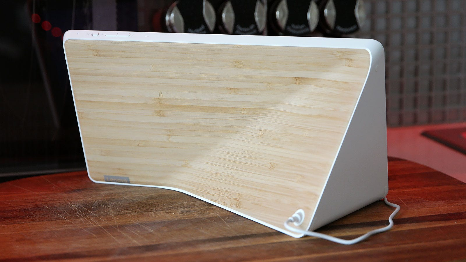 The back of the Smart Display features a sleek, minimalist look.