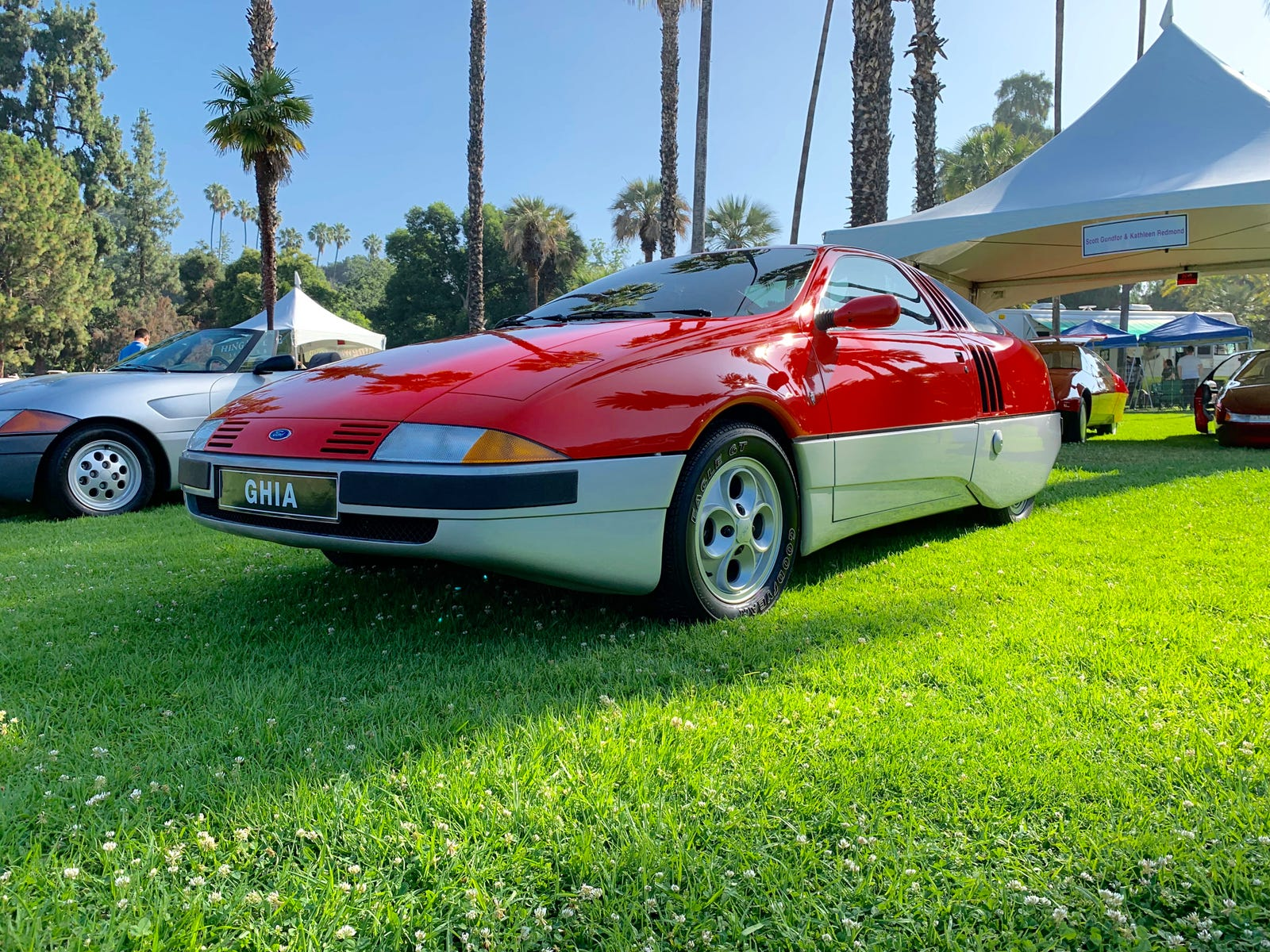 Also from 1982 is the Ghia Brezza which looks like it was built for an 80's sci fi movie.