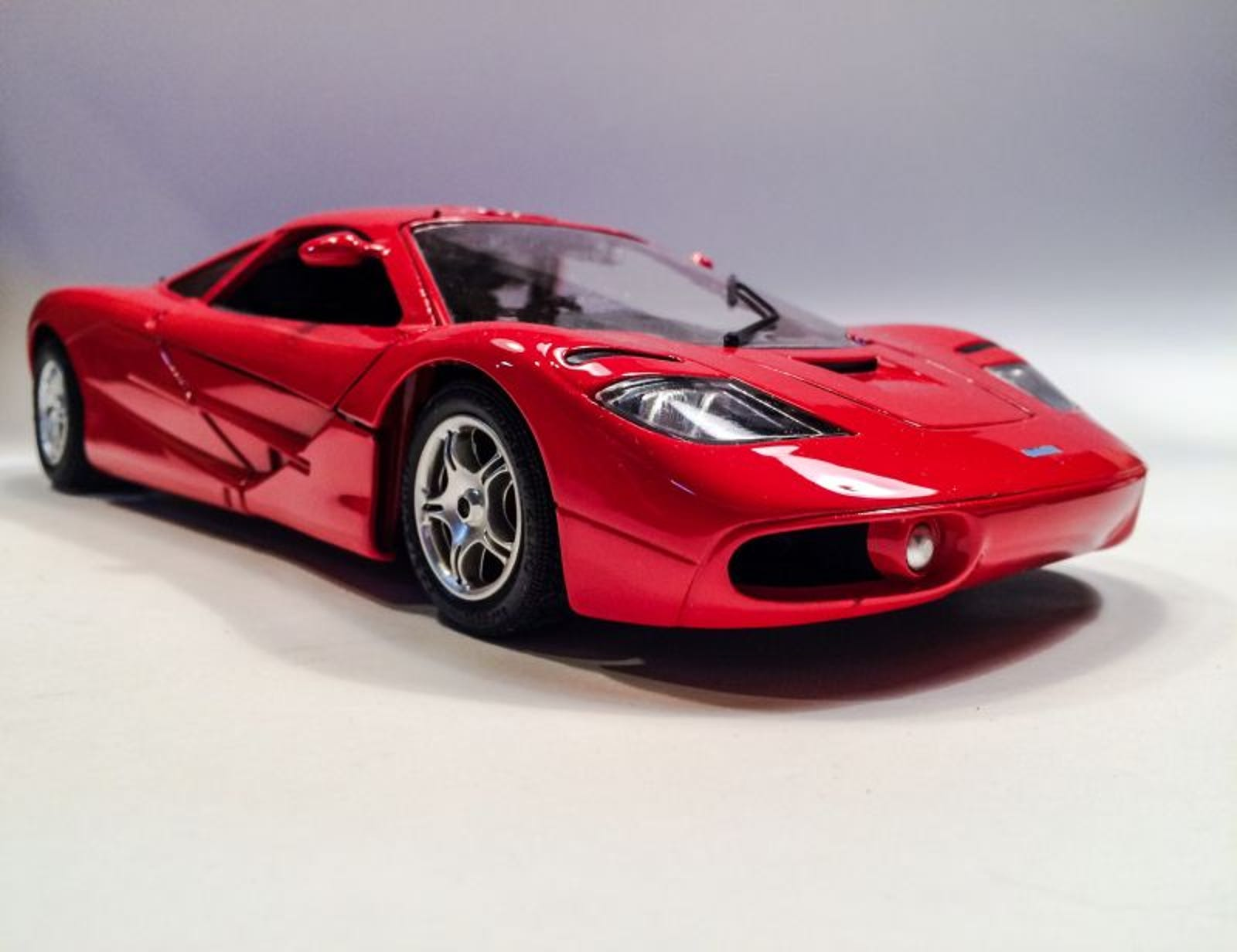 Lot 27: 1:18 Scale Guiloy Mclaren F1 Xp-1. $40 shipped - Displayed but dust free and original box included.