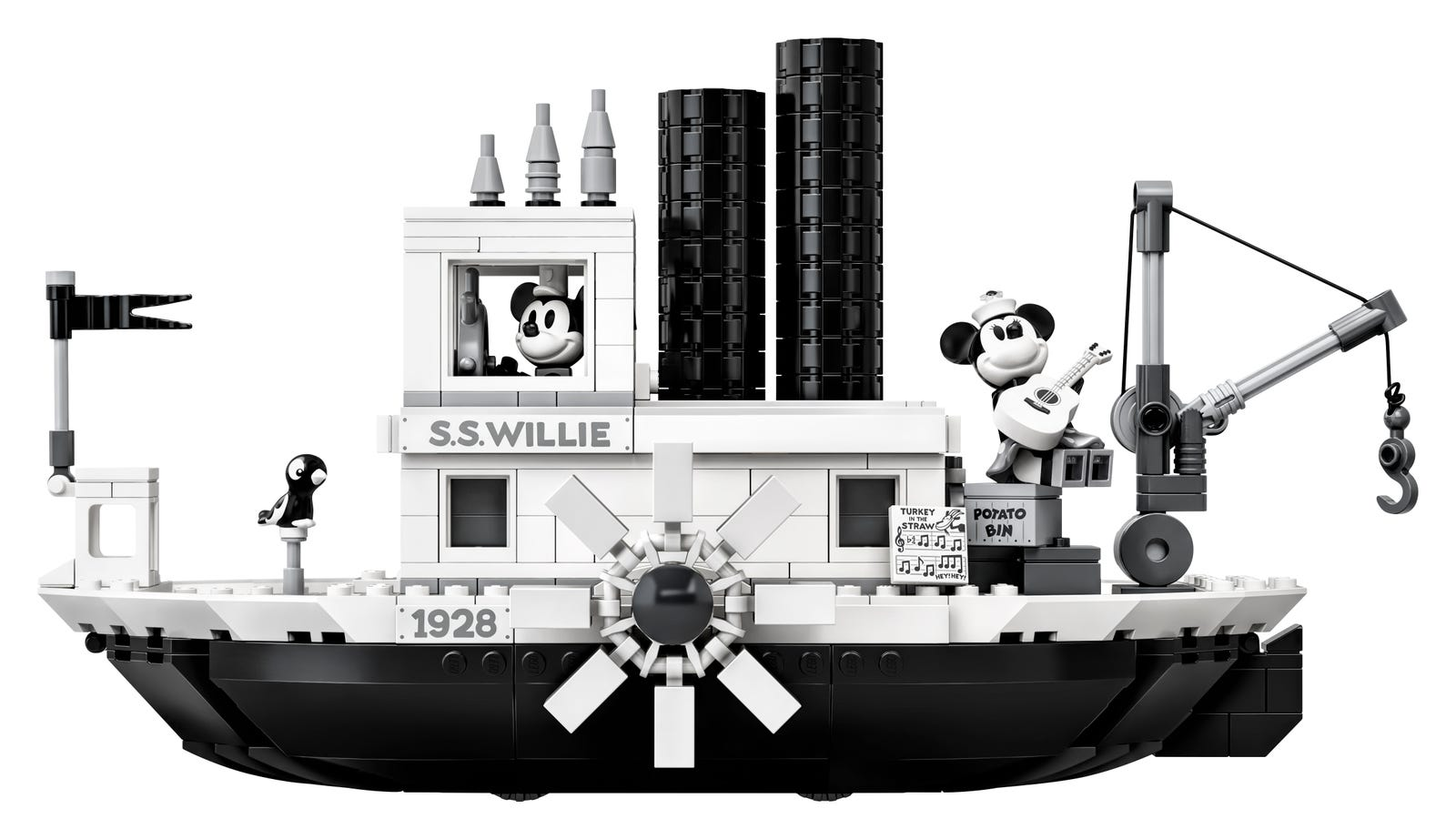 Illustration for article titled Legos Steamboat Willie Tribute Is Black And White And Perfectem/em