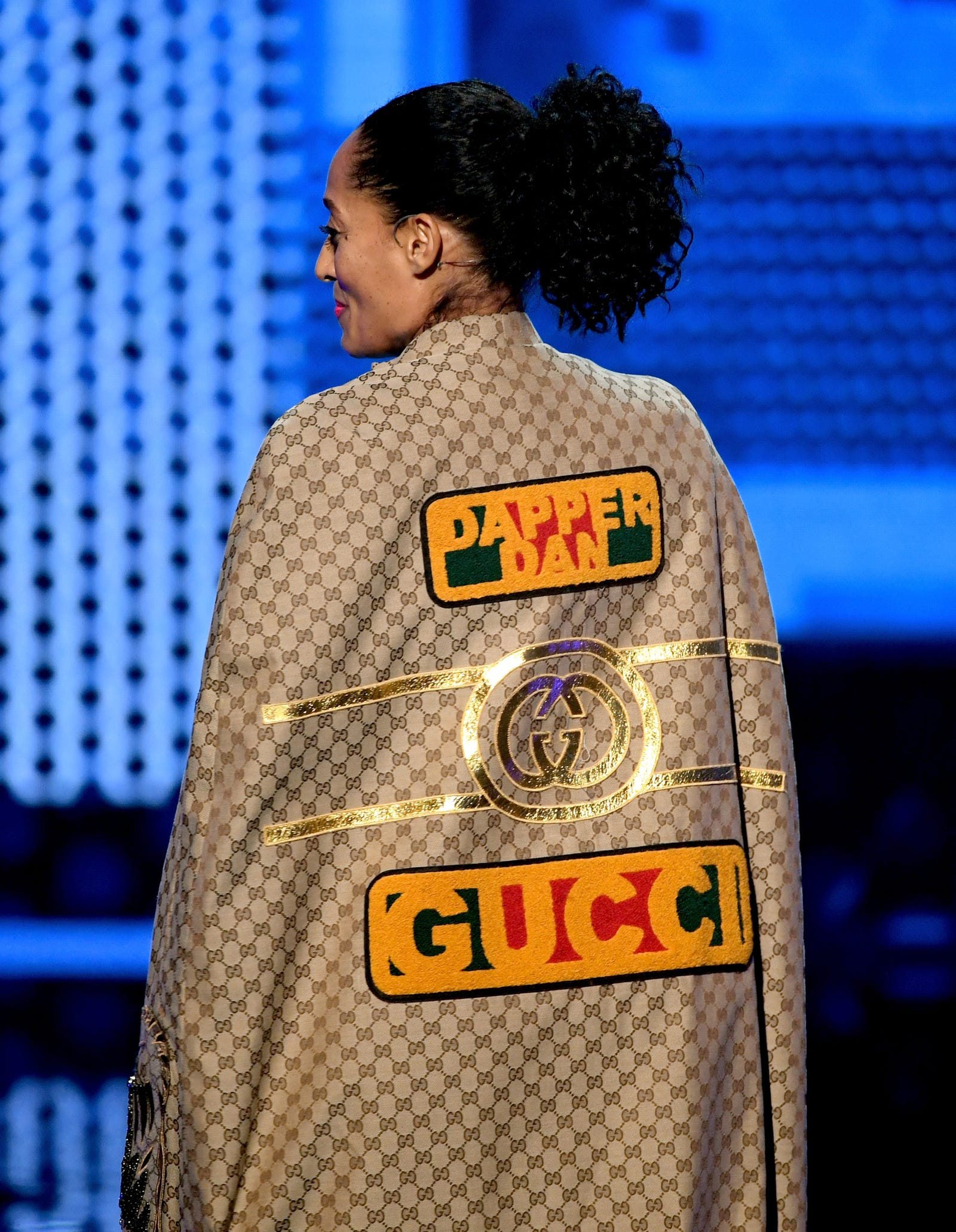Tracee Ellis Ross in Dapper Dan x Gucci