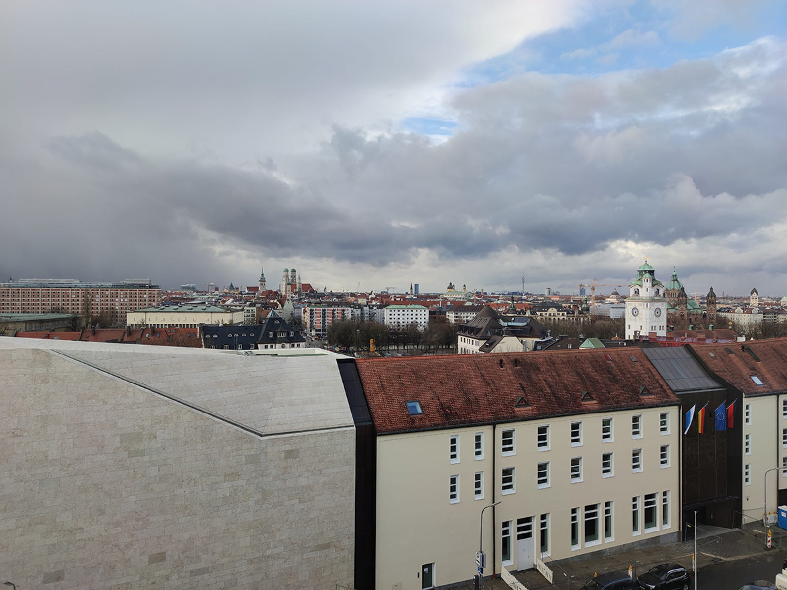 Vistas sobre los tejados de Munich.