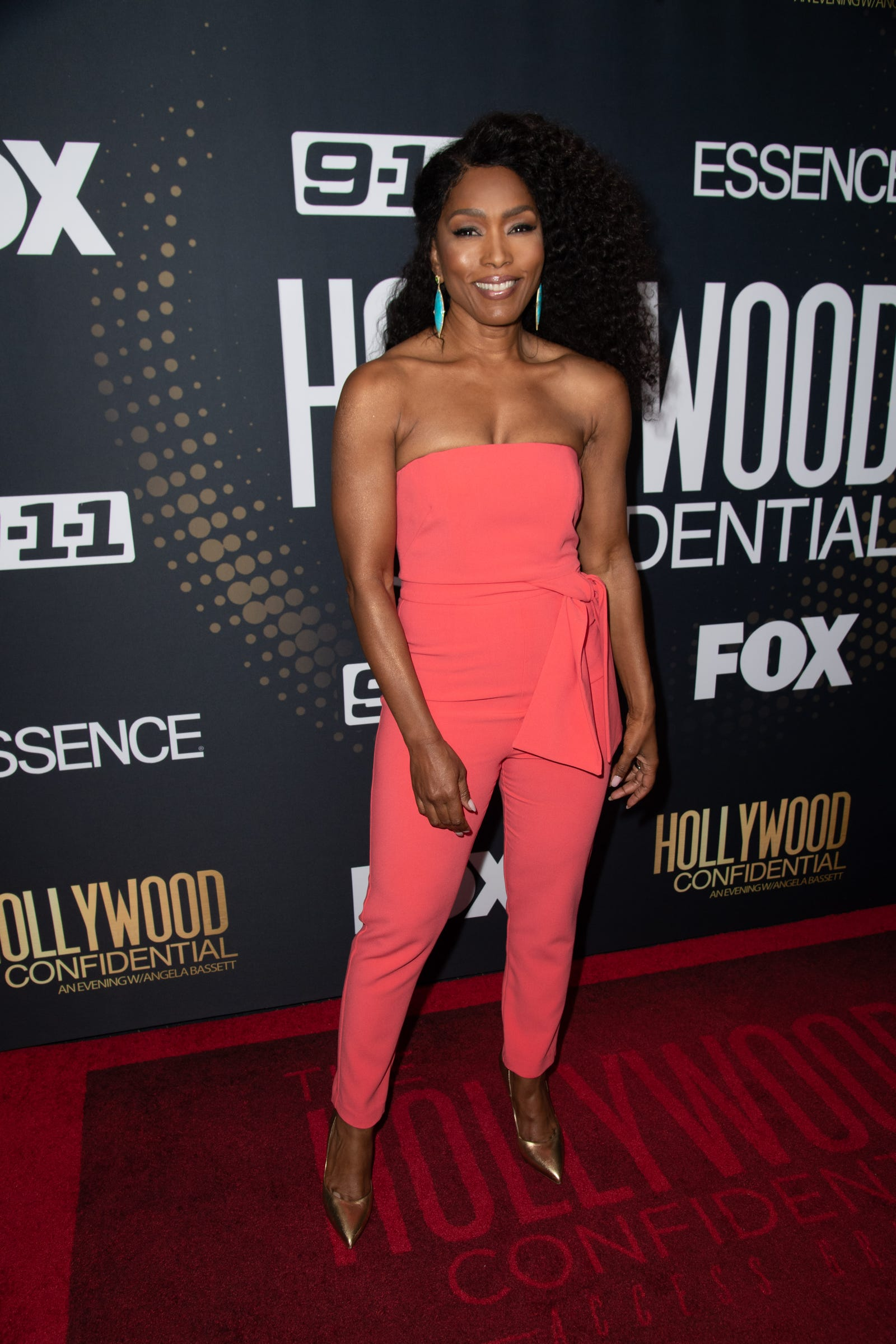 Angela Bassett at Essence Magazine And Hollywood Confidential Present 'An Evening With Angela Bassett' on October 8, 2018 in Beverly Hills, California.