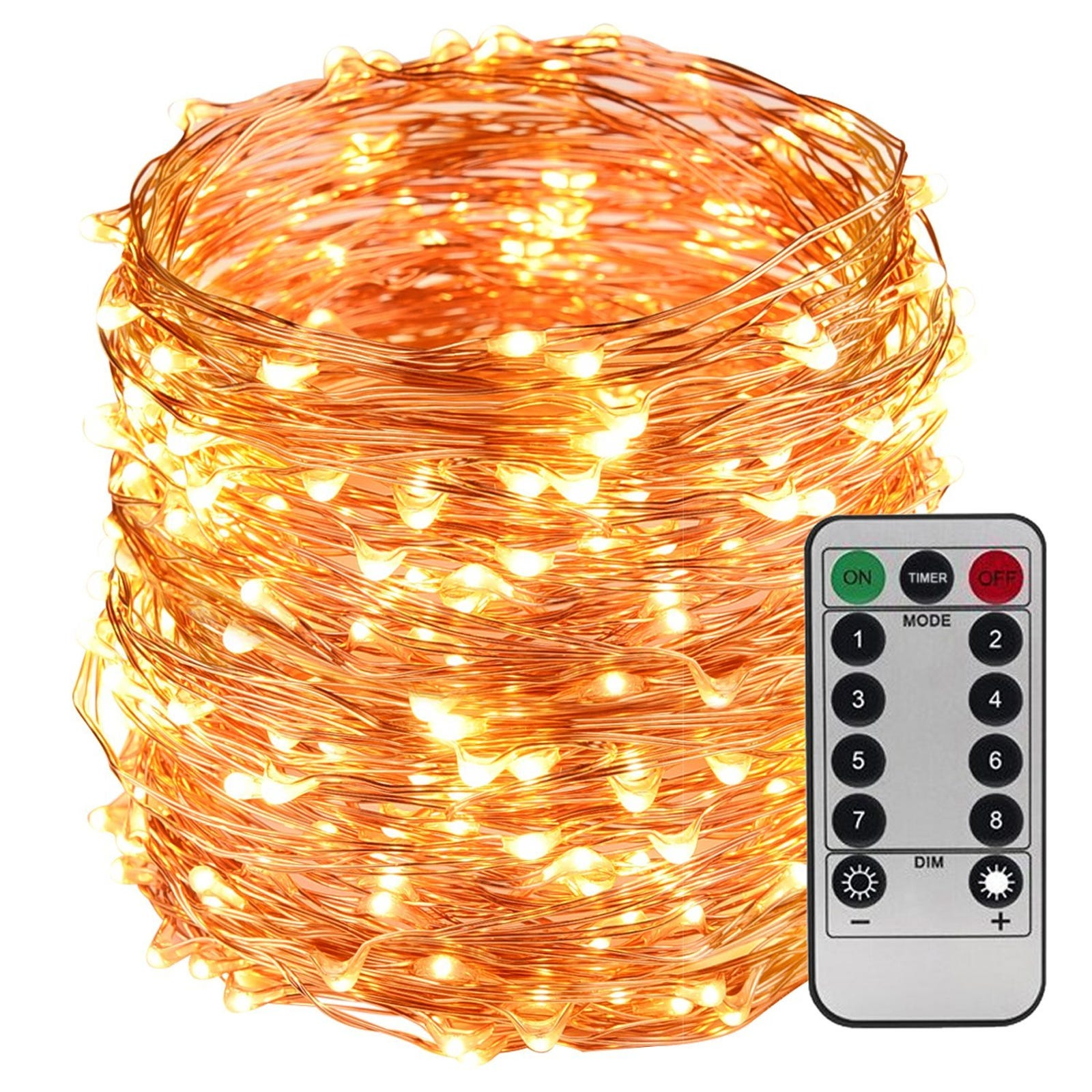 Take 30 % off LightsEtc 200 LED String White Waterproof Light with 8 Modes Remote Control