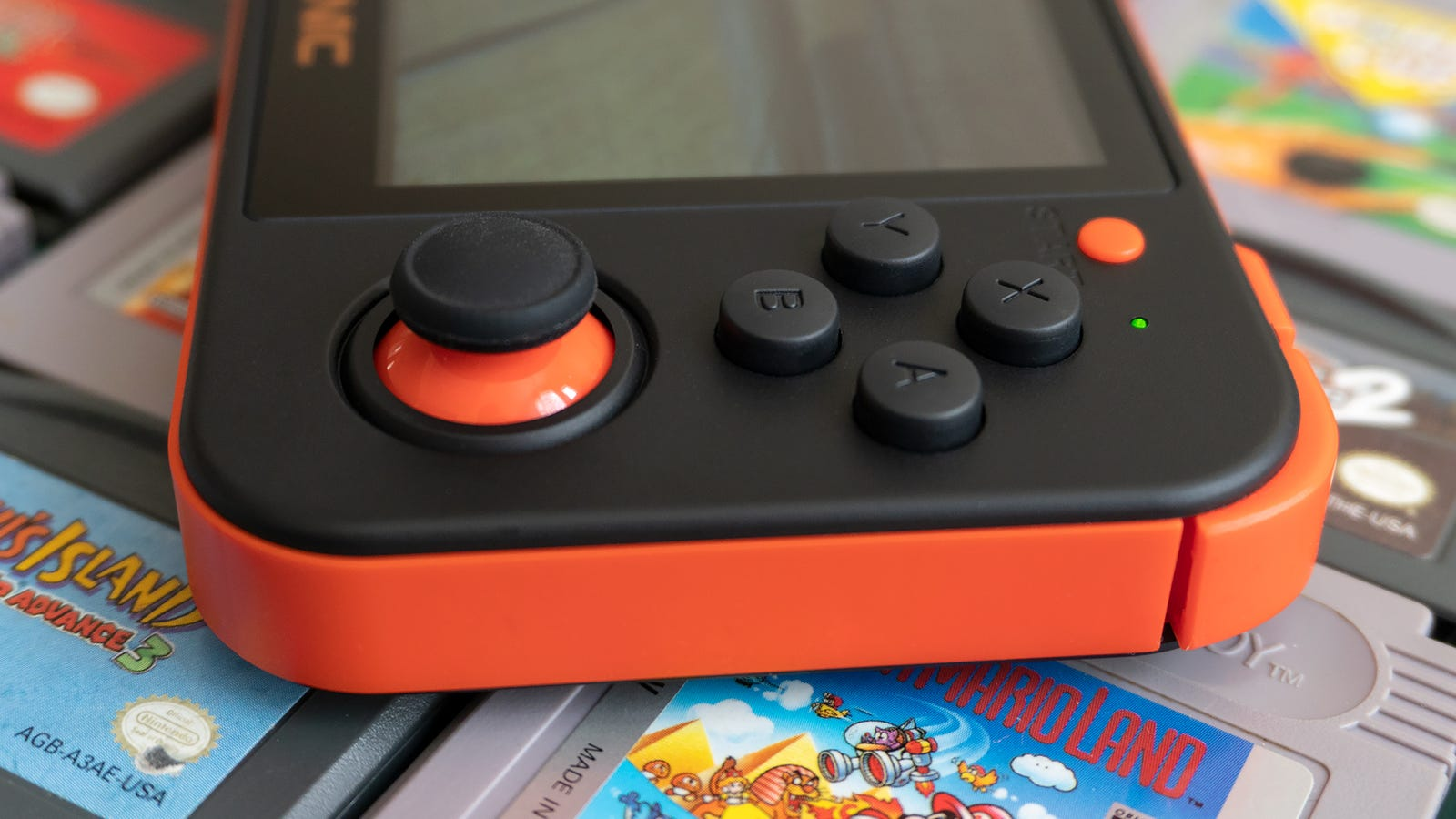 The analog joysticks on the RG350 feel fantastic, but the action buttons sit a little high and have a little more travel than many gamers might like.
