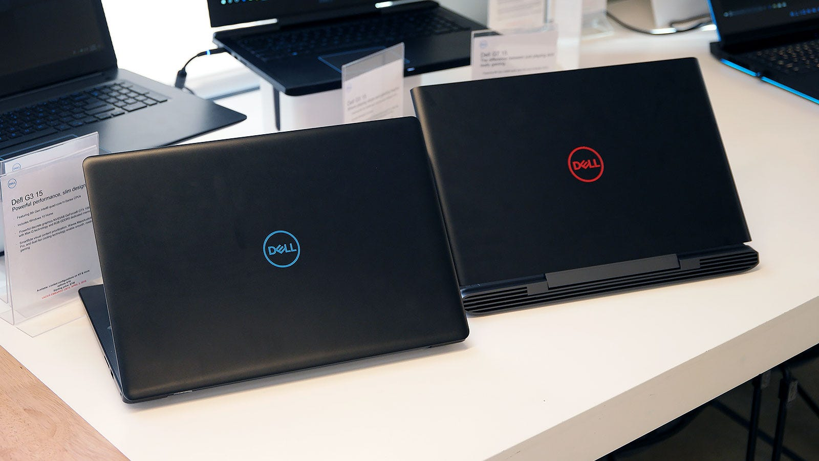 Dell didn't have any of the white G-Series laptops to show at its event. Sorry.