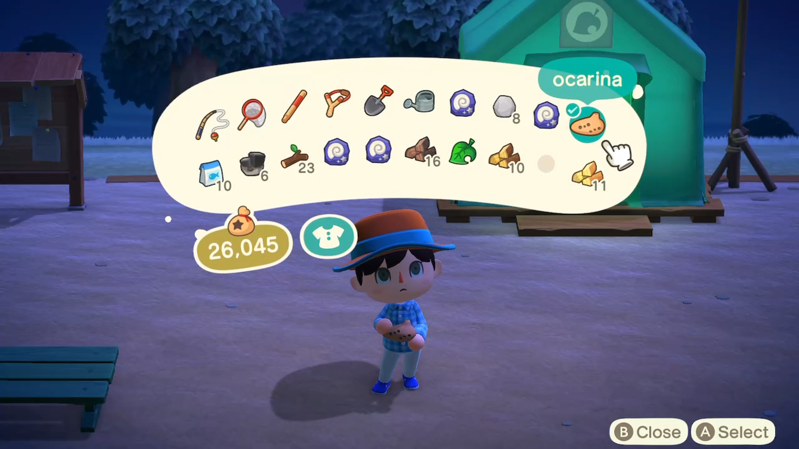 This is what your inventory looks like initially, but then grows...