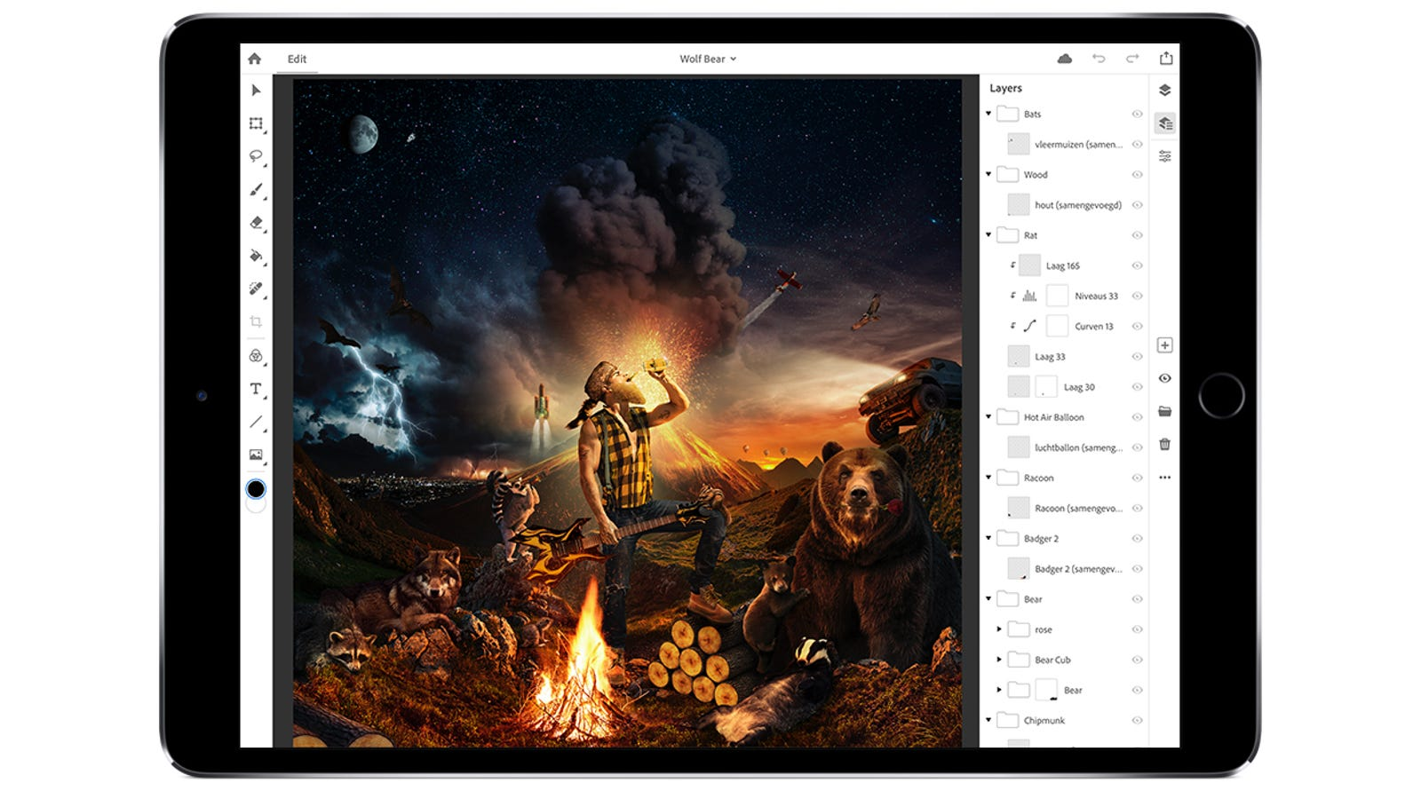 Illustration for article titled The iPad Is Soon, Finally, Getting a Full Version of Adobe Photoshopem/em