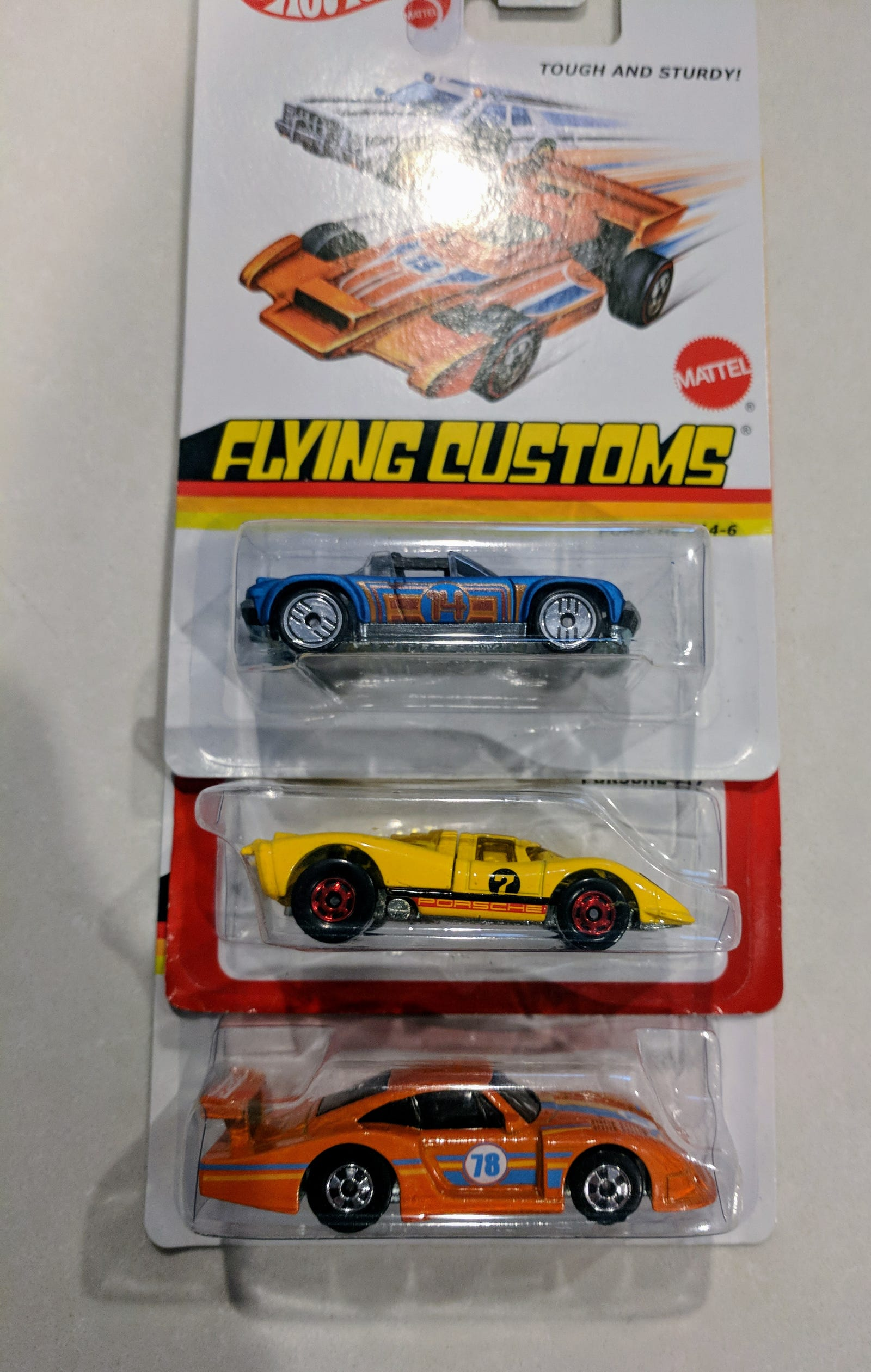 Lot 6: Porsches - $15 for 13 cars - Includes Flying Customs 914 and 935, Hot Ones 917...