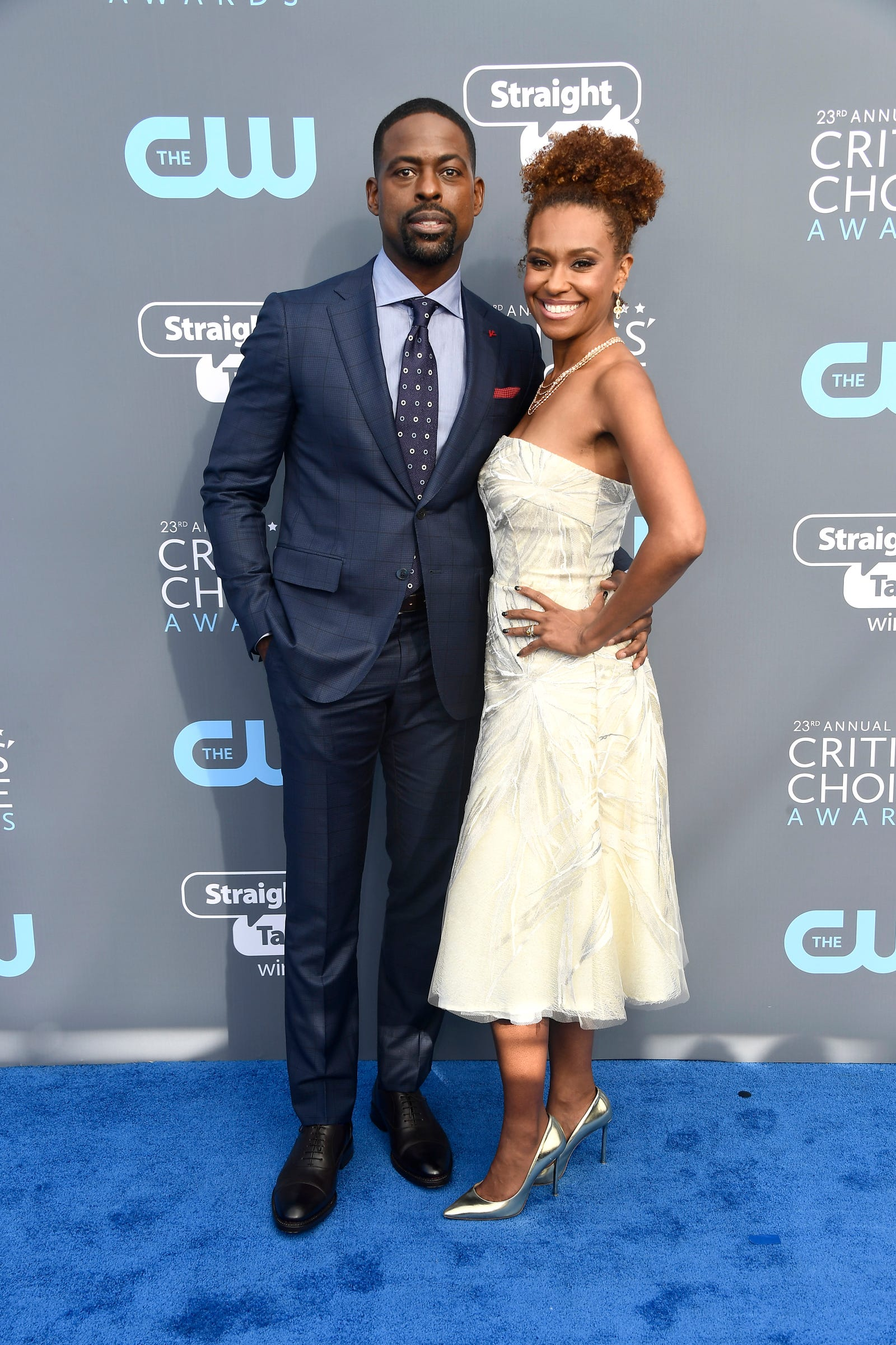 Sterling K. Brown and Ryan Michelle Bathe are our newest favorite homecoming couple. (Frazer Harrison/Getty Images)