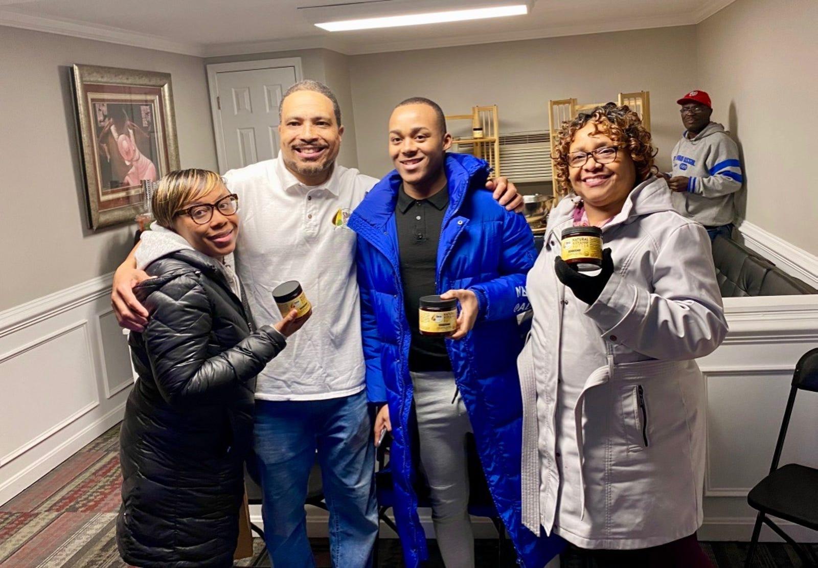 Terry Williams with the Patrice Family, including Ebony, Karon and Vera.