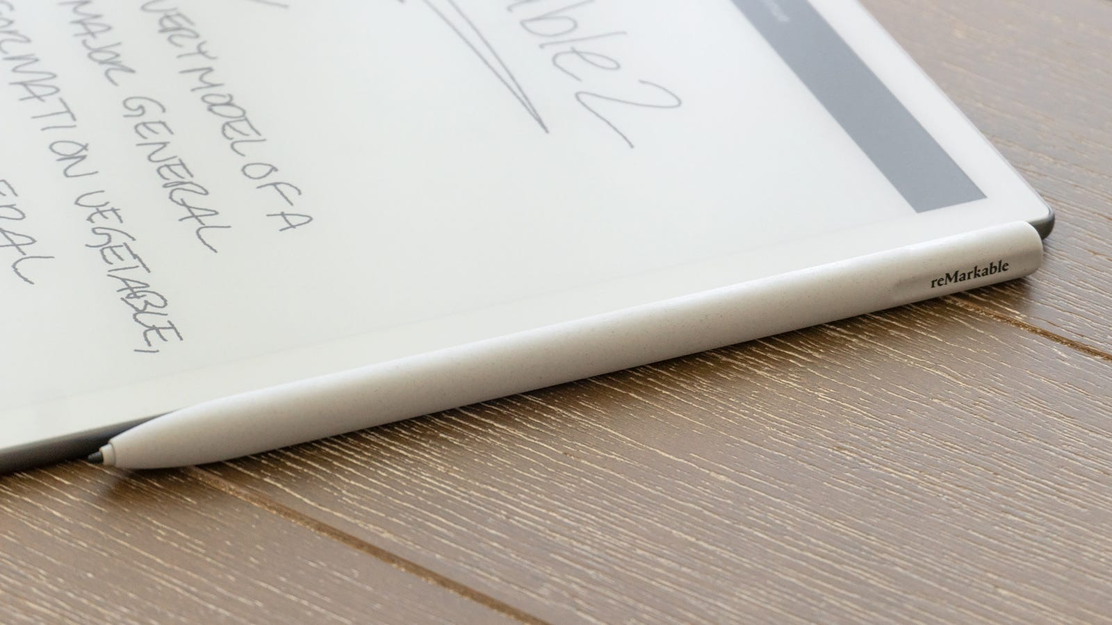 Like the Apple Pencil, the reMarkable 2's stylus options can be secured to the side of the table with magnet