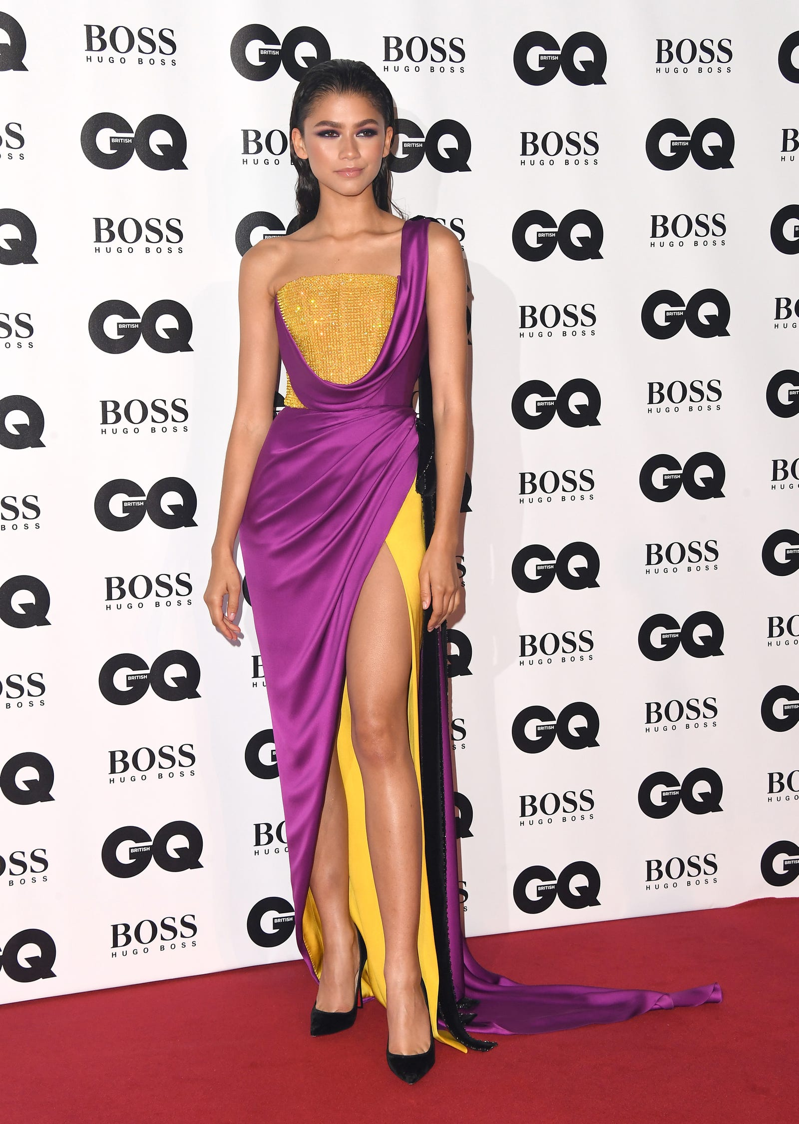 Zendaya attends the GQ Men of the Year awards on September 5, 2018 in London, England.