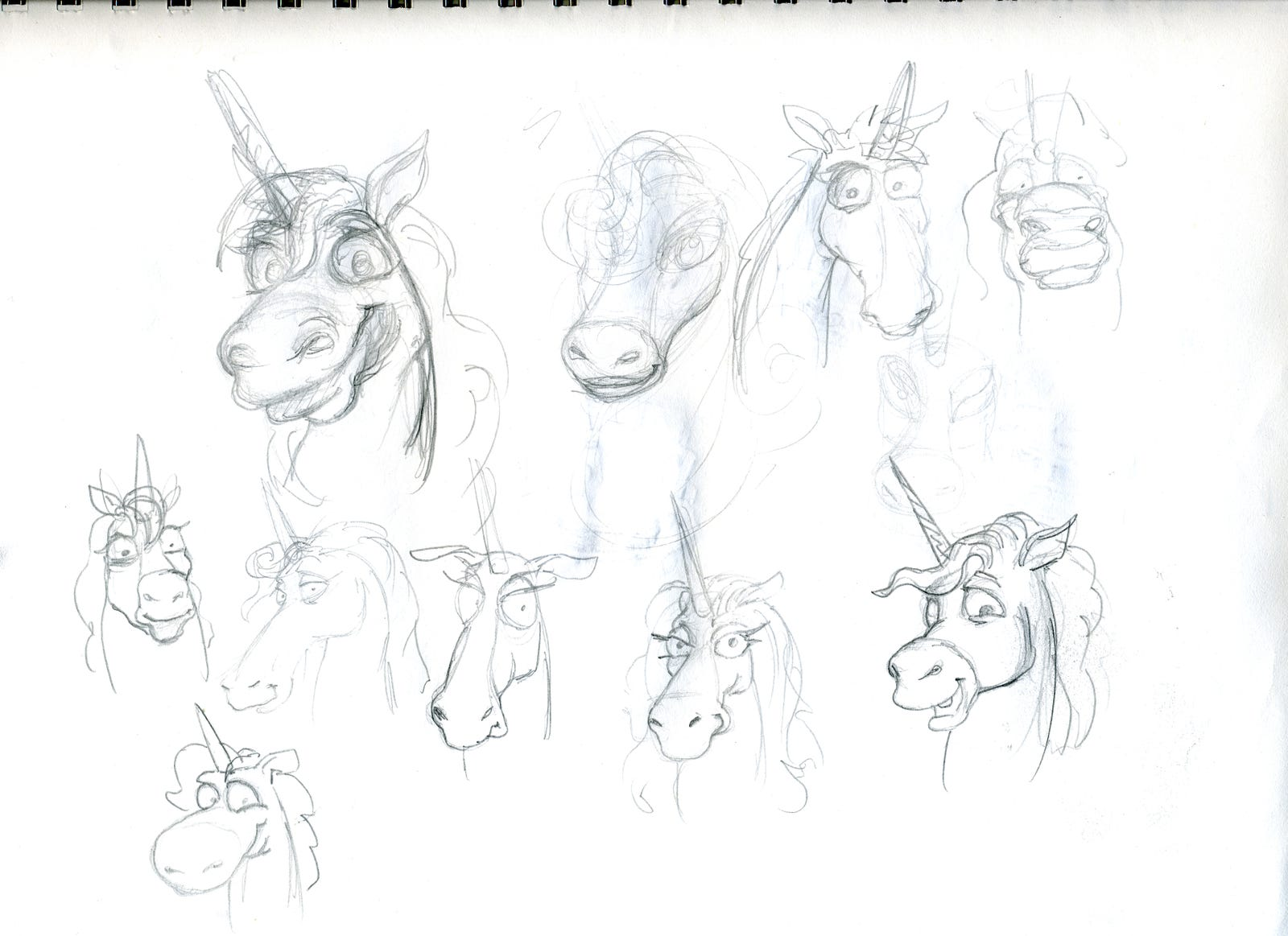 Peggle character sketches from the game's development.