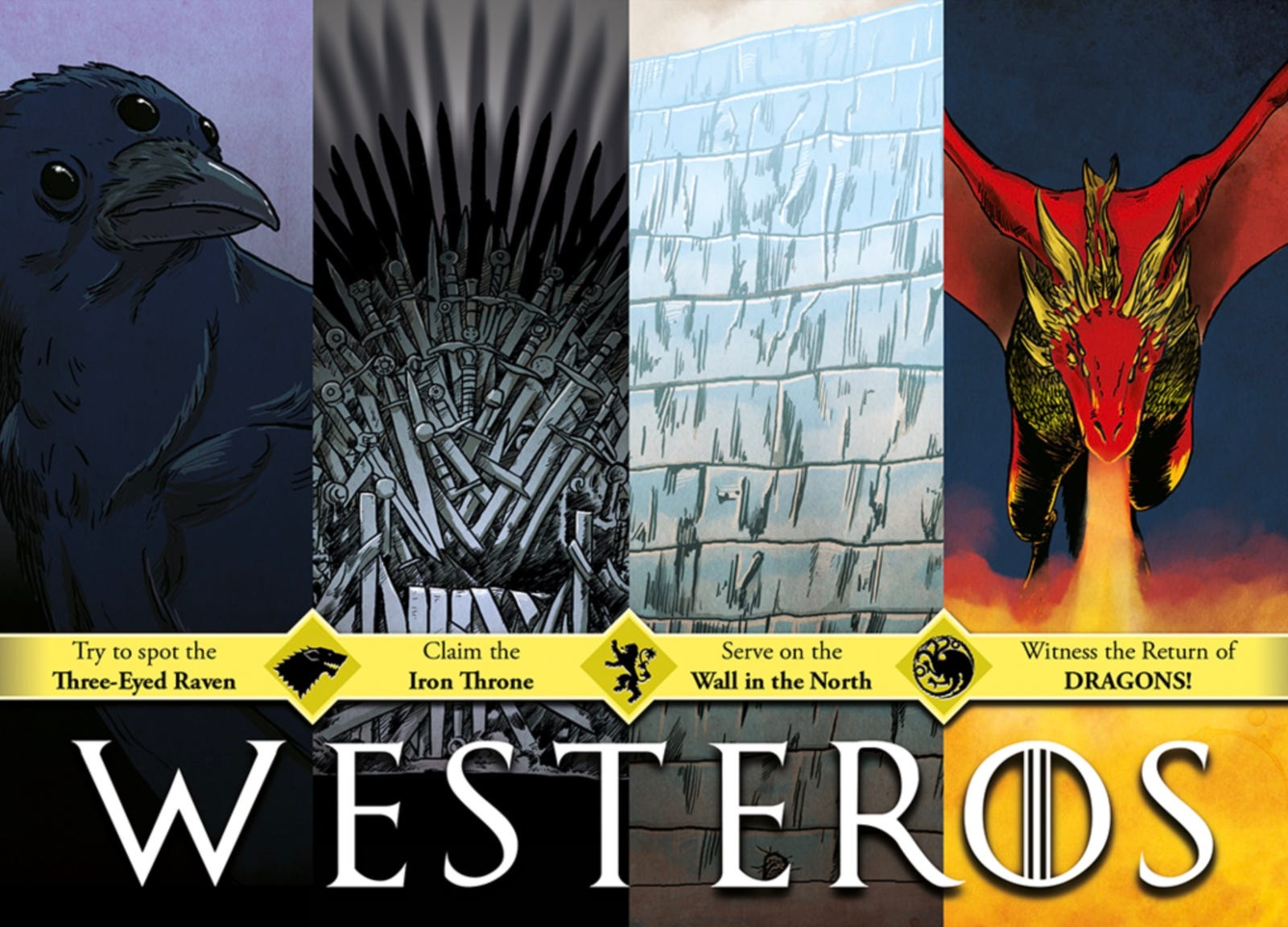 """Keith Noordzy - """"Come to Westeros - Winter is Here"""" Postcard Print"""