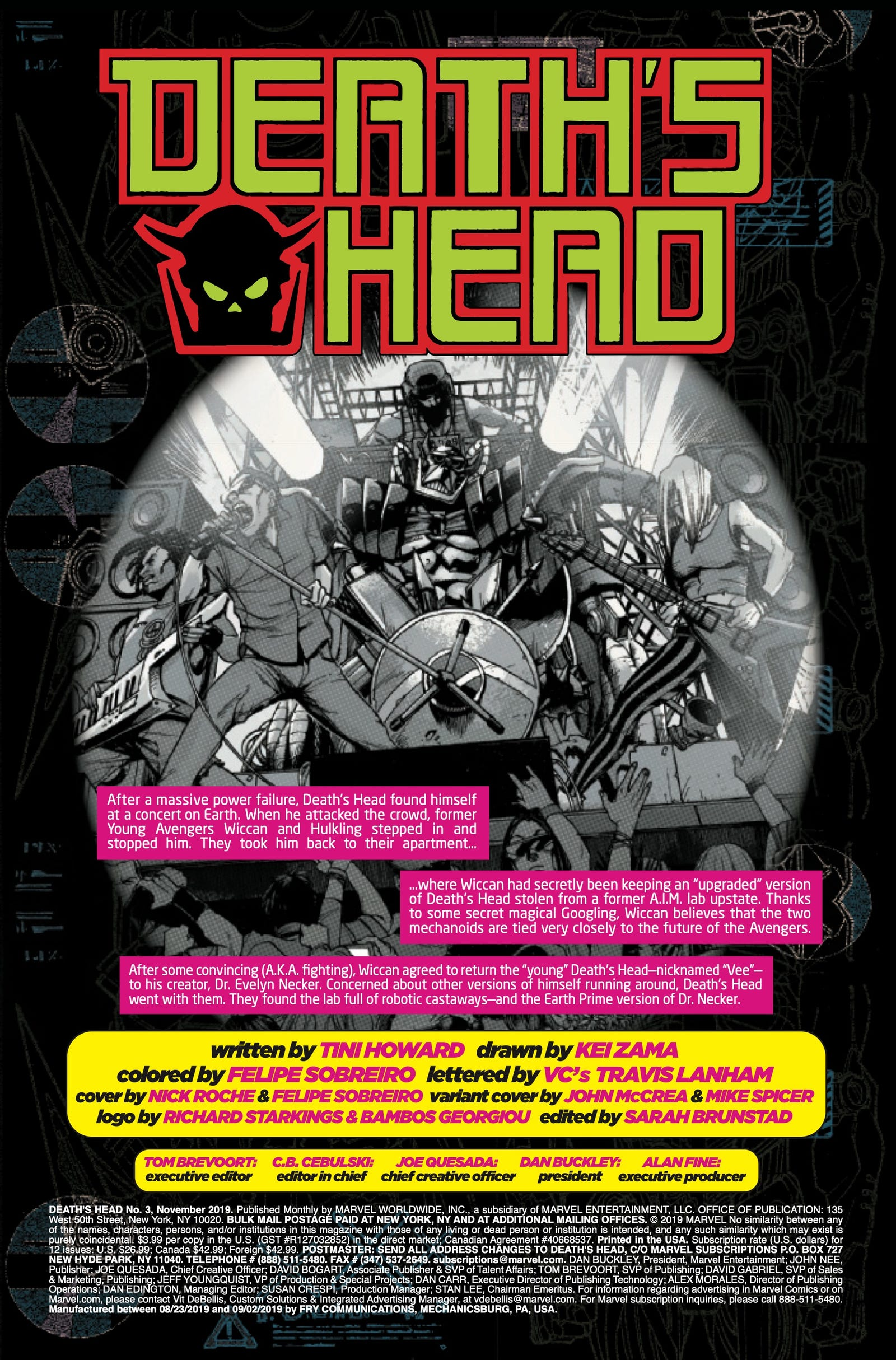 Illustration for article titled emDeath's Head/em and the Young Avengers blow up killer robots in this exclusive