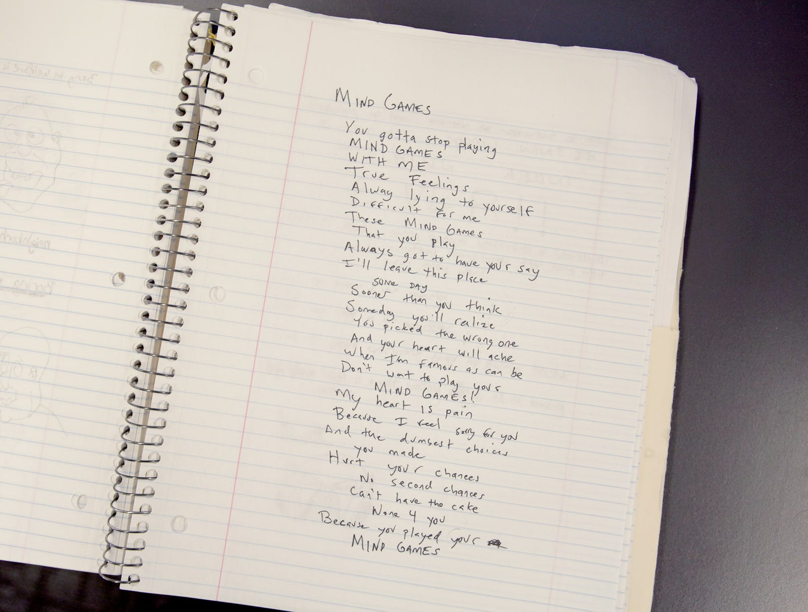 Algebra Notebook Forced To Bear The Brunt Of Teen's Song Lyrics
