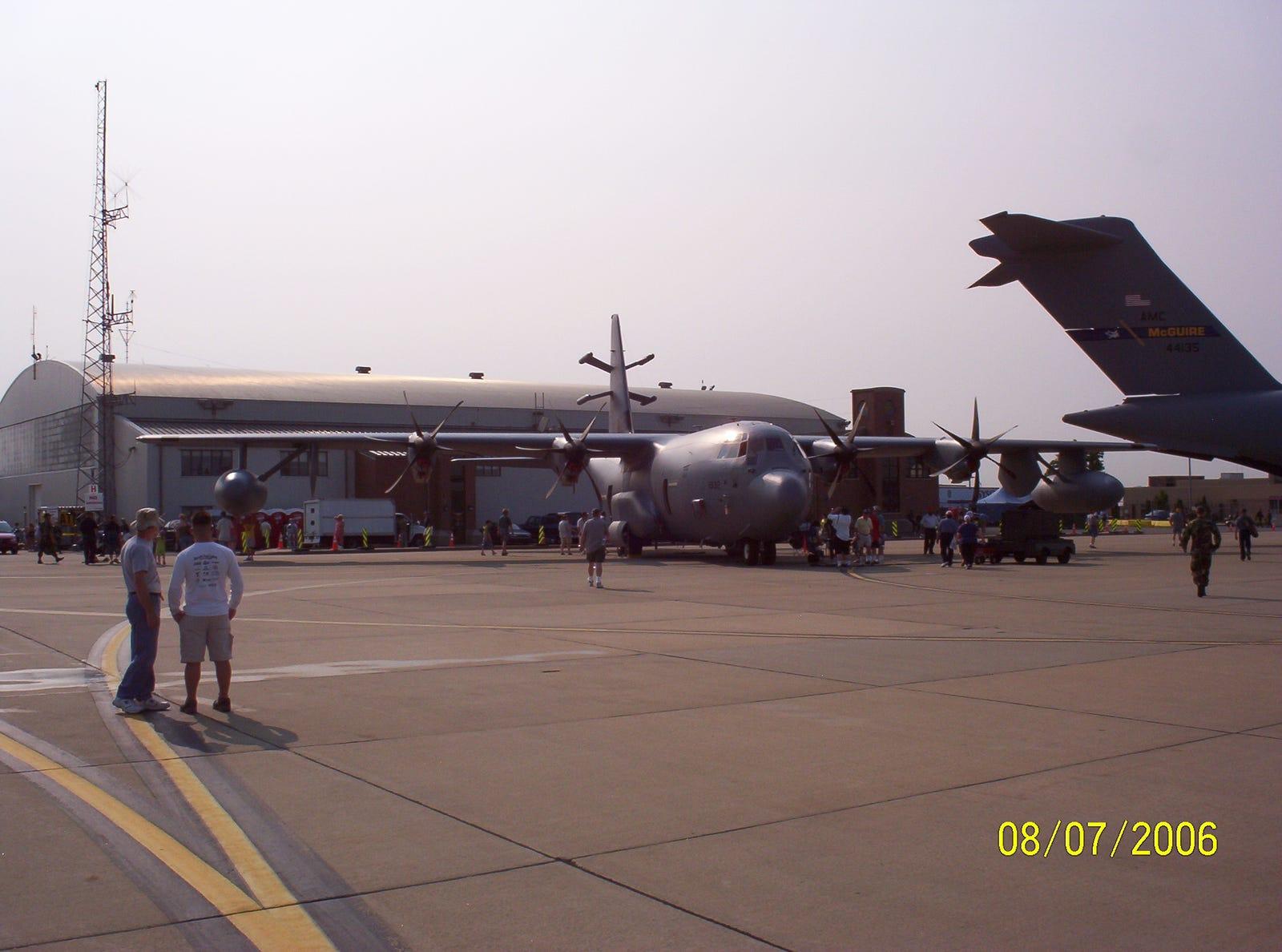 "An EC-130J ""Commando Solo"", based at Harrisburg ANG,"