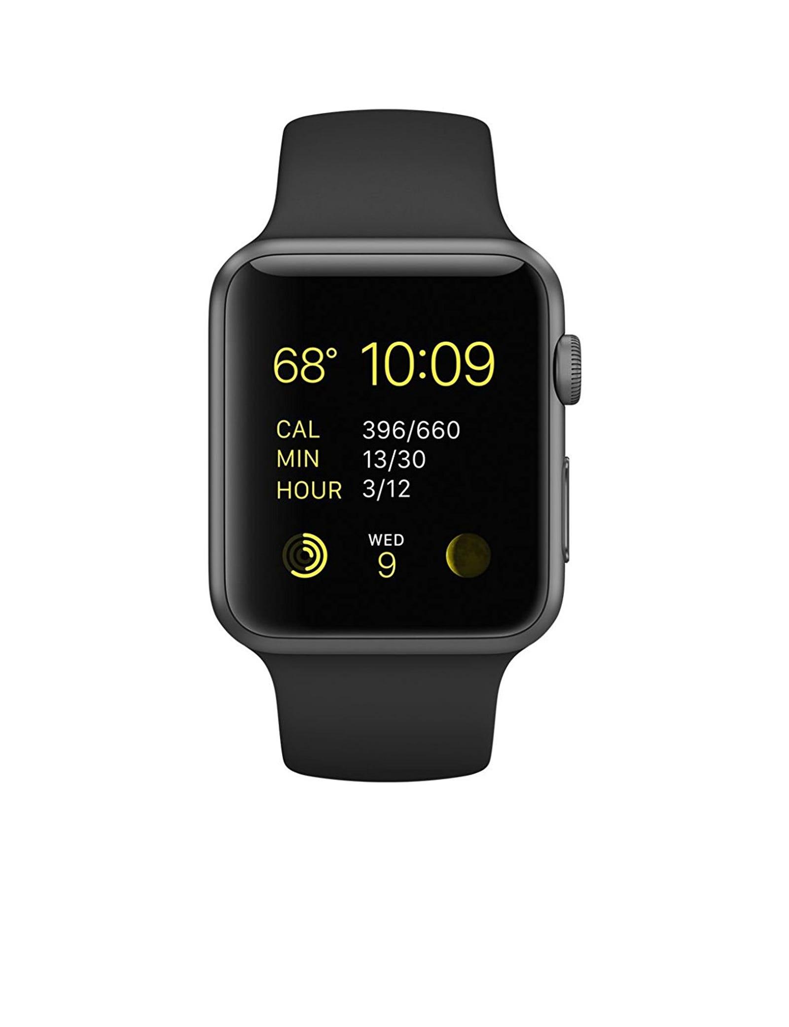 Apple 42mm Smart Watch Series 1 - Space Grey Aluminum Case/Black Band