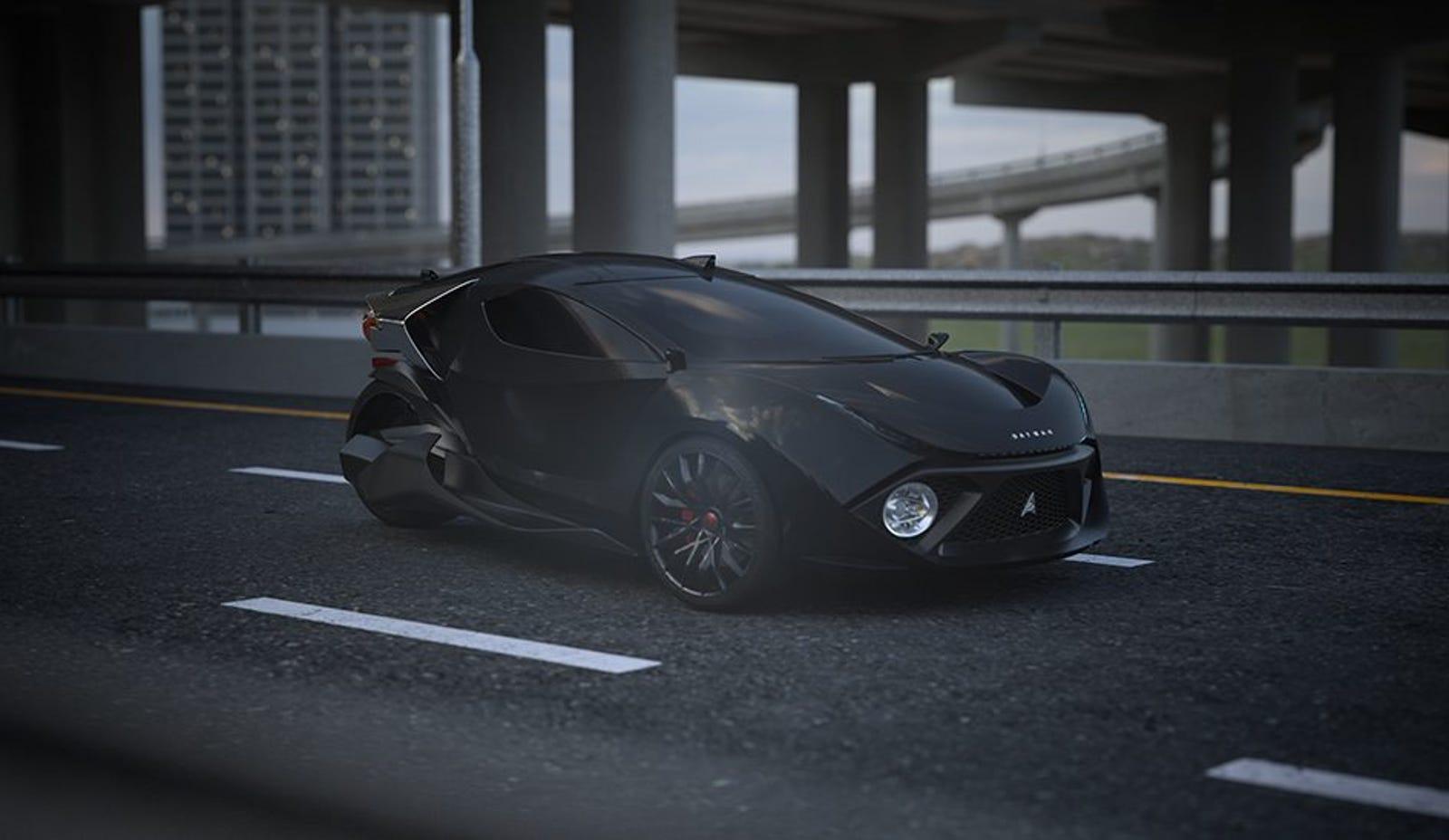 Illustration for article titled No es el nuevo vehículo de Batman, es el auto eléctrico de 3 ruedas más rápido del mundo