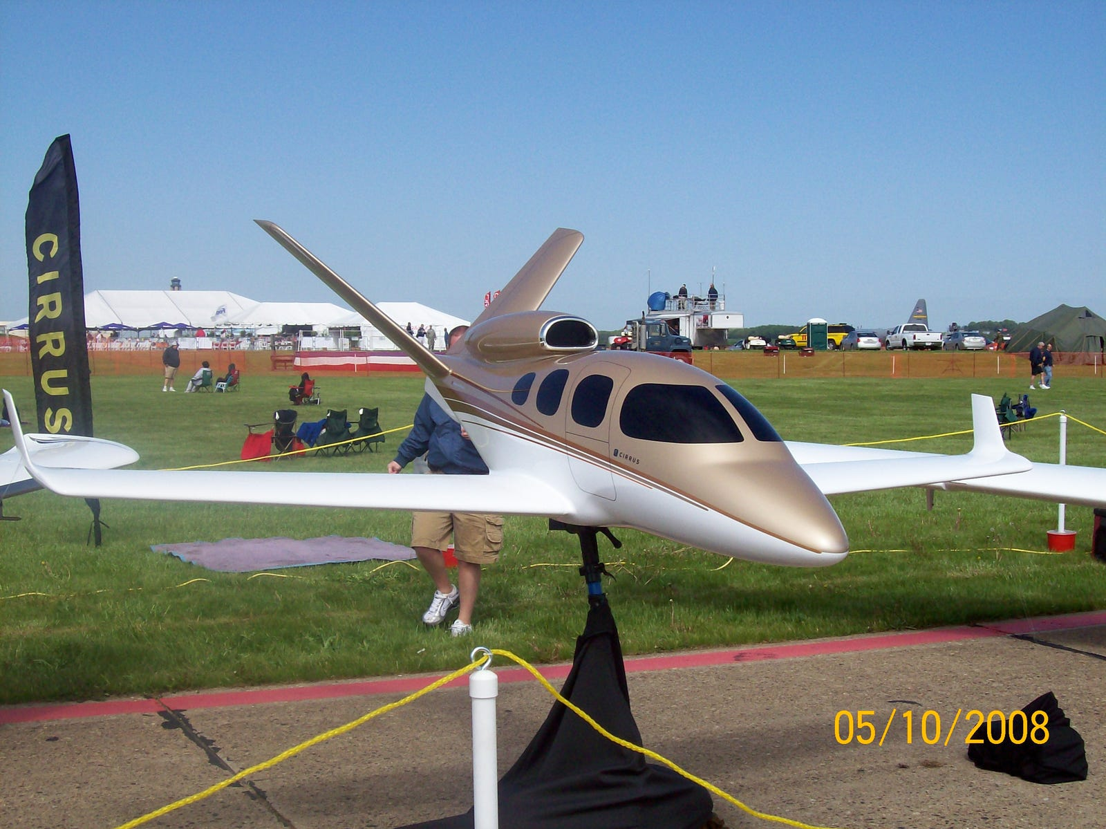 A model of the Cirrus Vision SF50 (aka the Vision Jet), still under development at the time