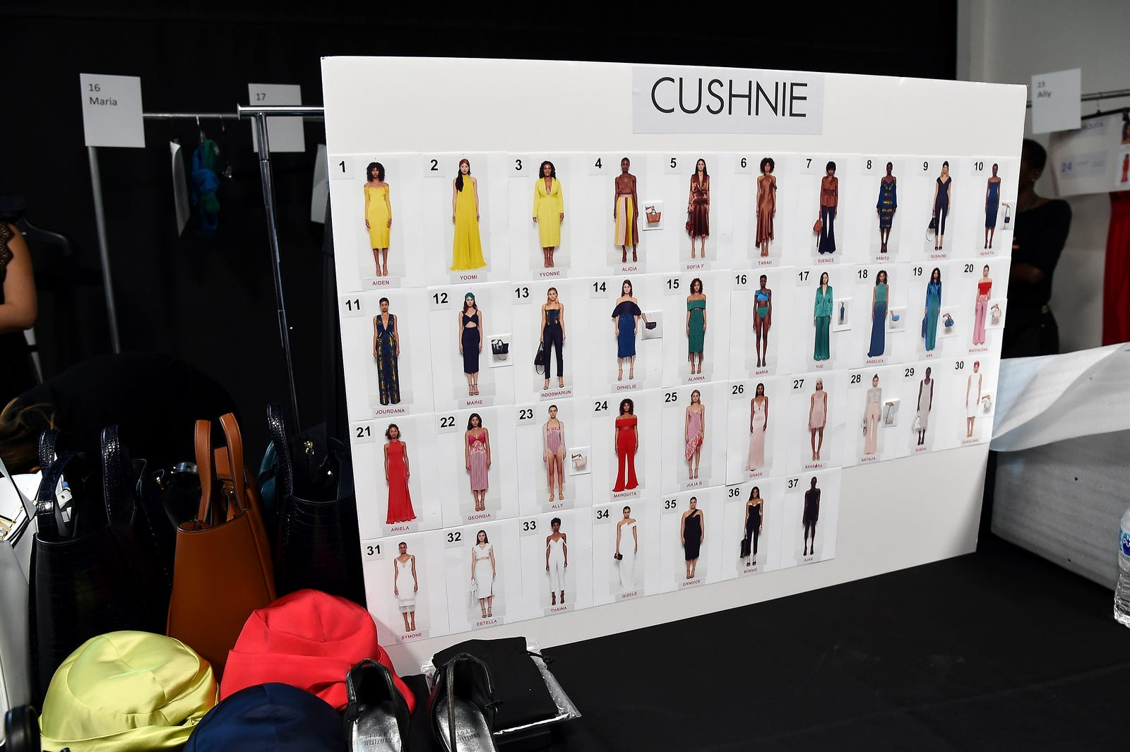 A view of atmosphere backstage at the Cushnie show during New York Fashion Week: The Shows at Gallery I at Spring Studios on September 7, 2018 in New York City.