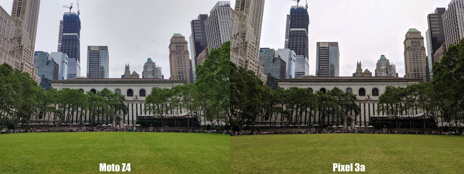 Click to enlarge and check out the difference in details on the walls of the New York Public Library.