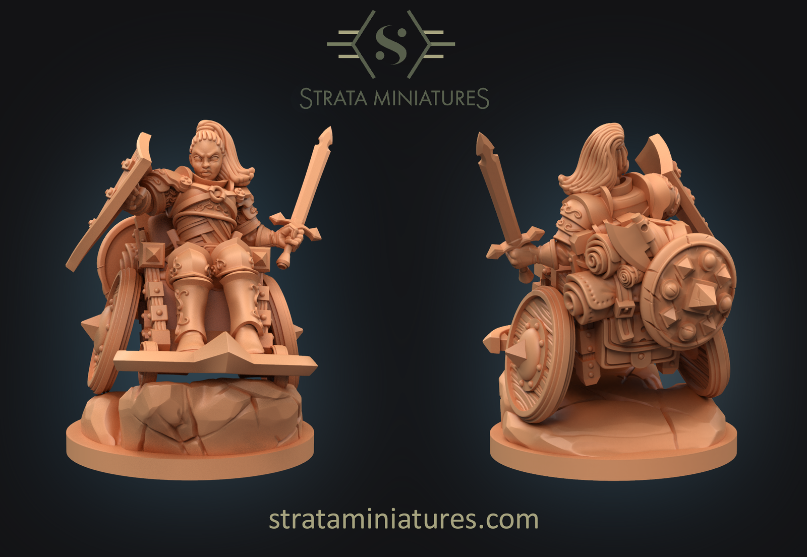 A first look at the Human Fighter combat wheelchair miniatures.