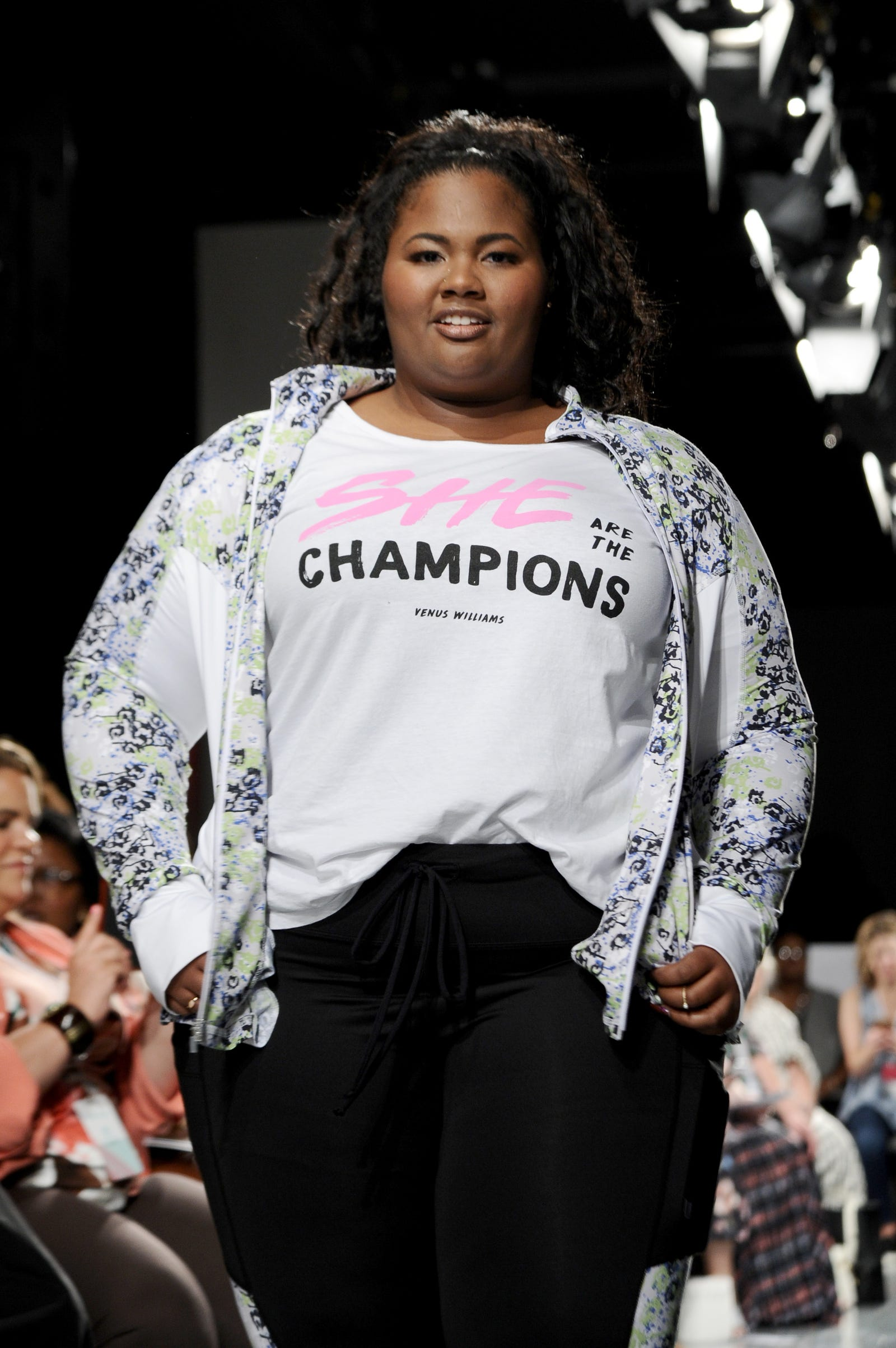 A model walks the runway for the #TeeUpChange Campaign Launch Hosted By Dia&Co and CFDA at theCURVYcon on September 7, 2018 in New York City.