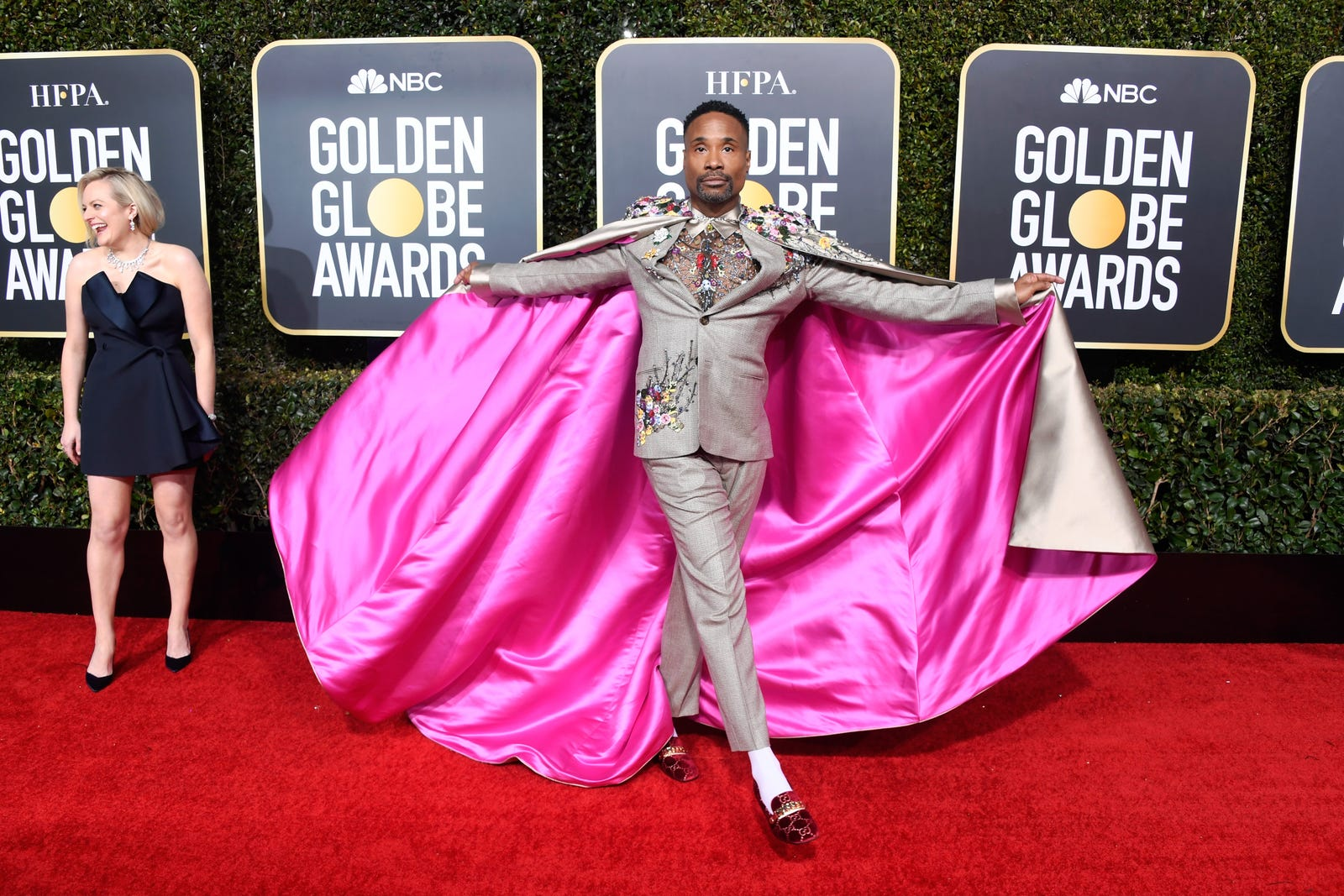 Billy Porter wears a custom suit and cape by Randi Rahm.