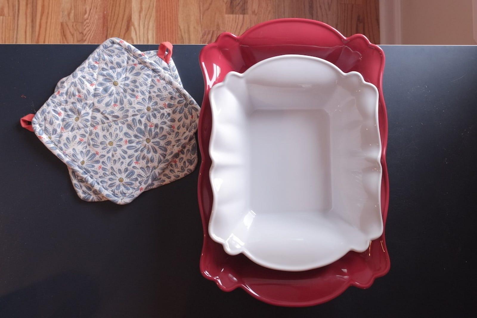 Crofton ceramic bakeware, $12.99 for the set