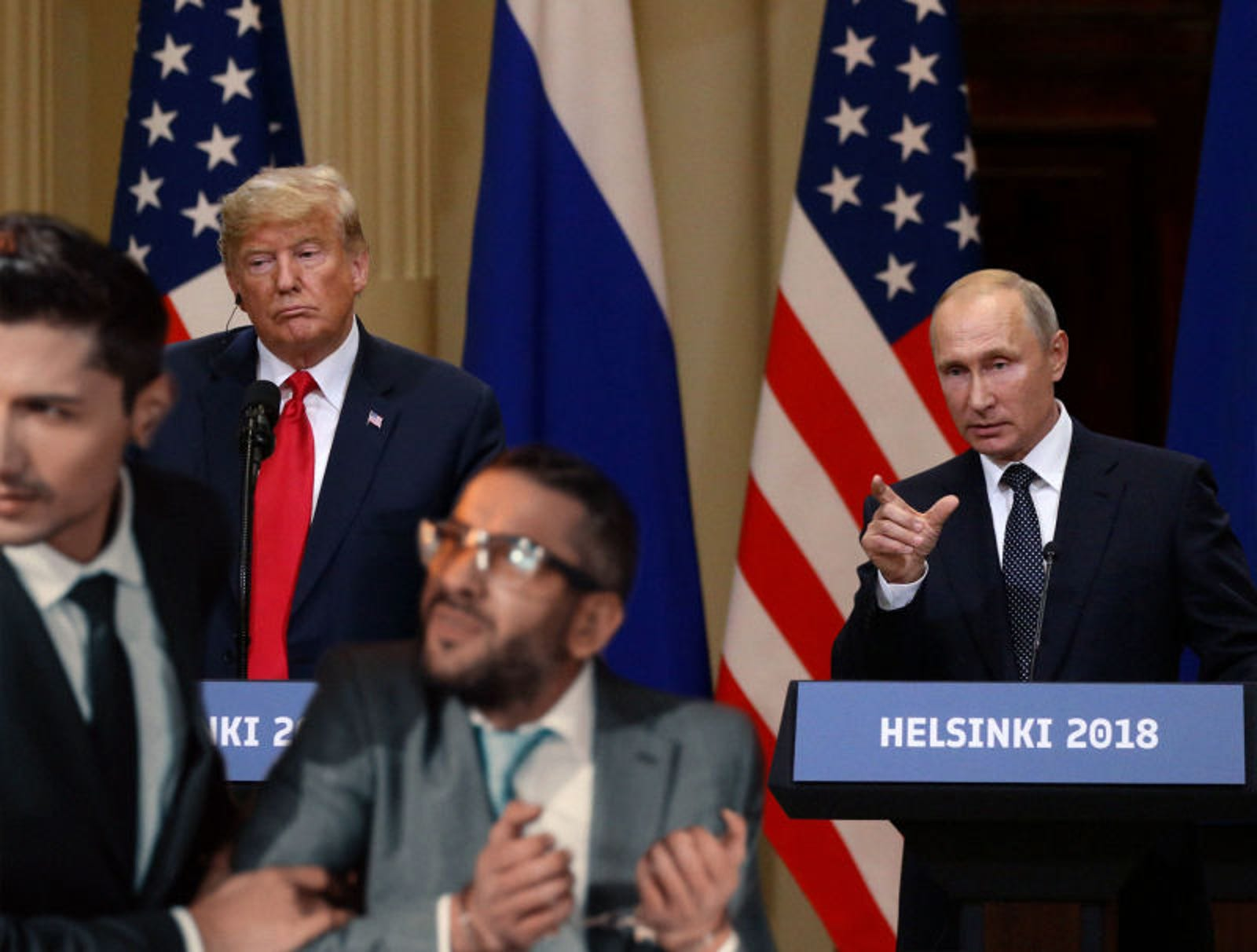 Trump, Putin Hold First Joint Press Crackdown