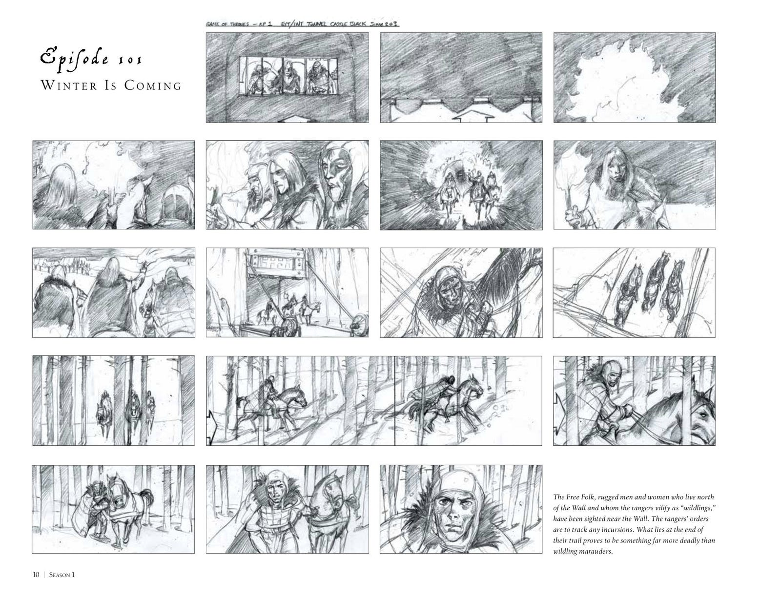 Page 10 of Game of Thrones: The Storyboards by William Simpson