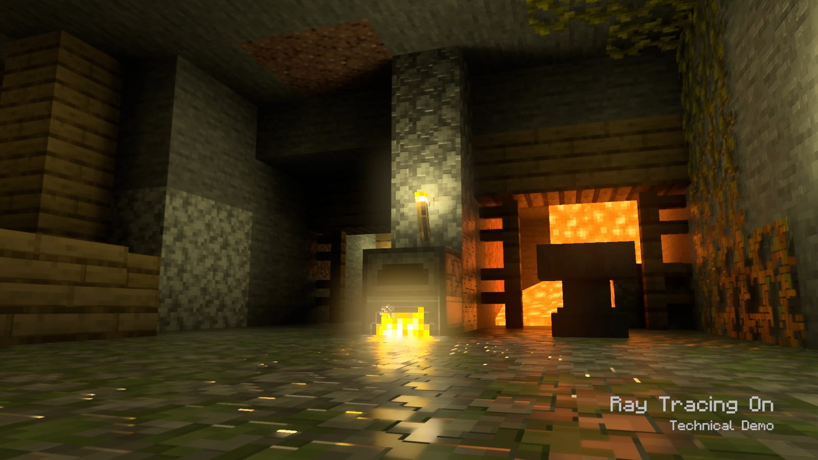 Minecraft with AMD ray tracing.