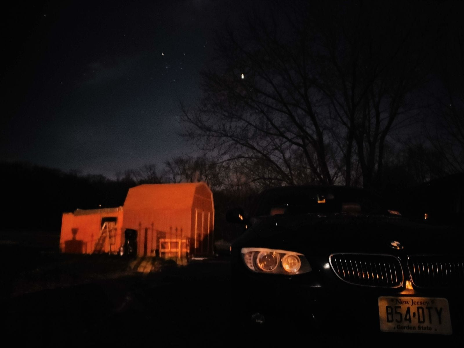 Foto nocturna tomada con el LG V60.