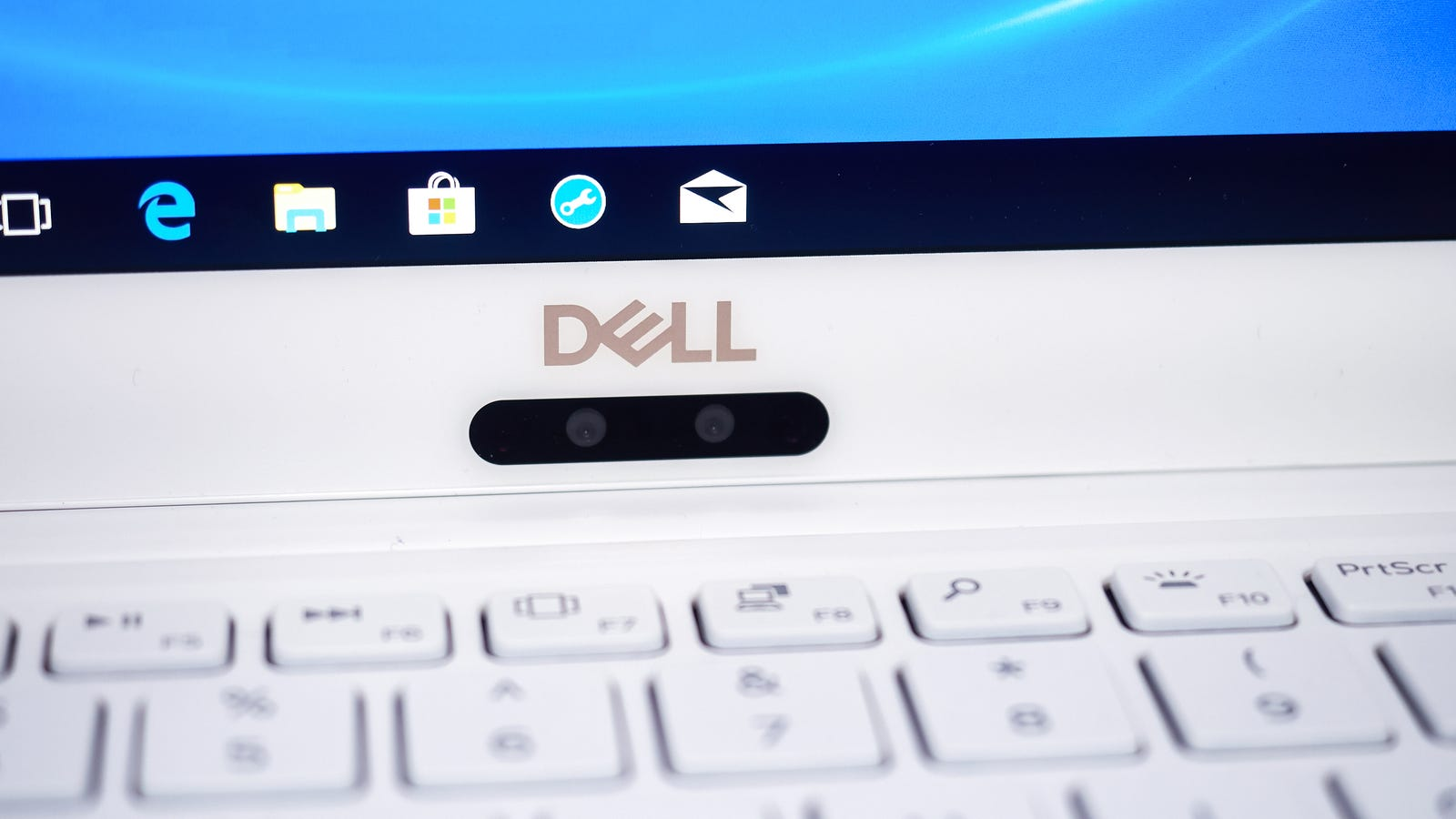 Even the annoyingly placed webcam looks nice, but the cheaper XPS 13s lack the glass over the display, so it probably won't look as nice on those machines. Photo: Alex Cranz (Gizmodo)