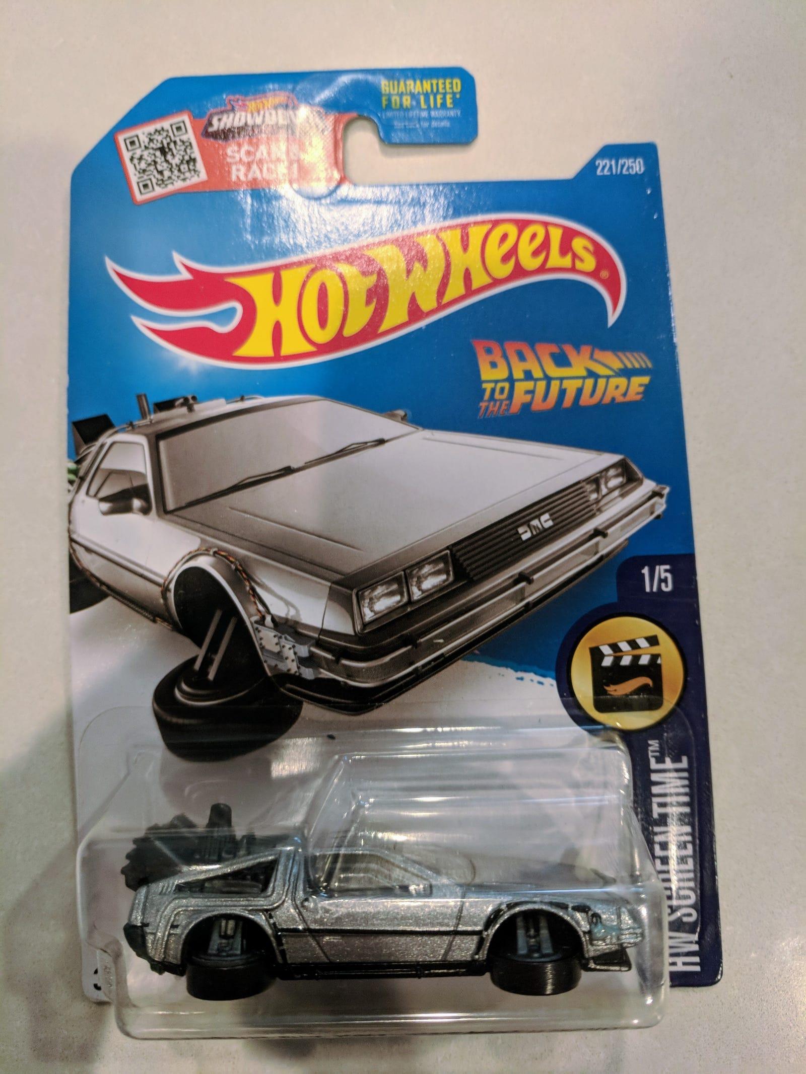 Lot 25: Fantasy Junction: $4 for 7 cars including a hover mode DeLorean...