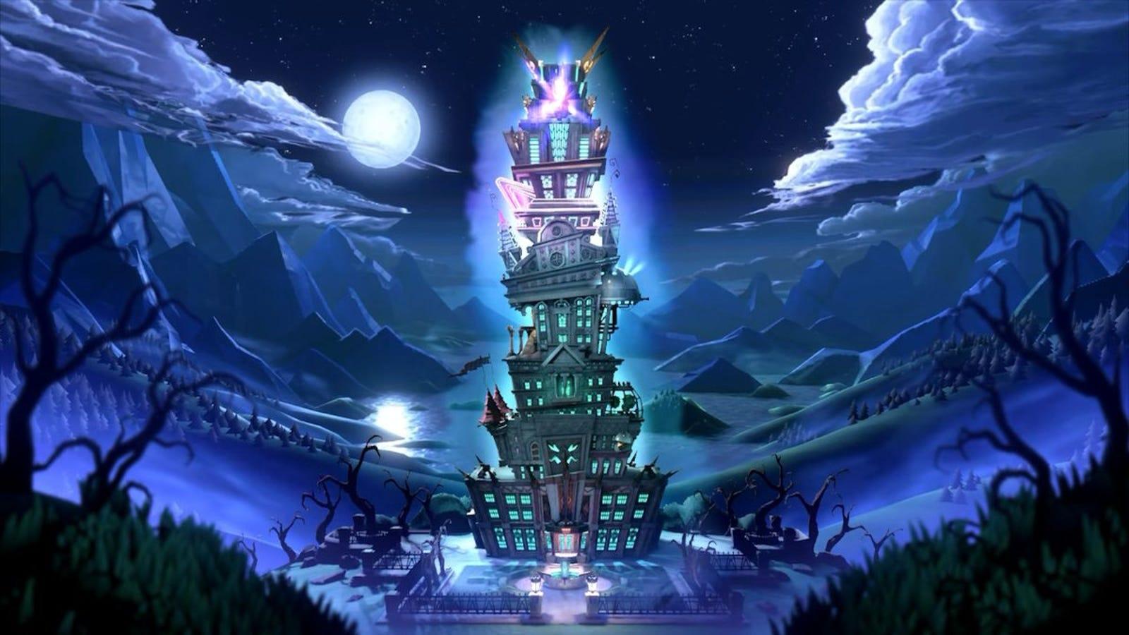El enorme hotel encantado que Luigi deberá explorar para rescatar a su familia.