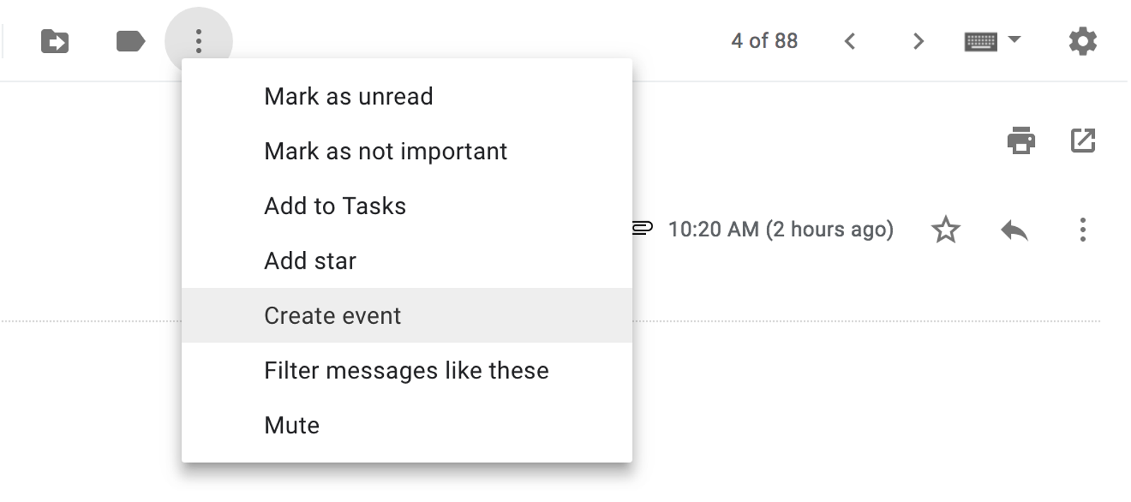 New Gmail version with the three dots icon.