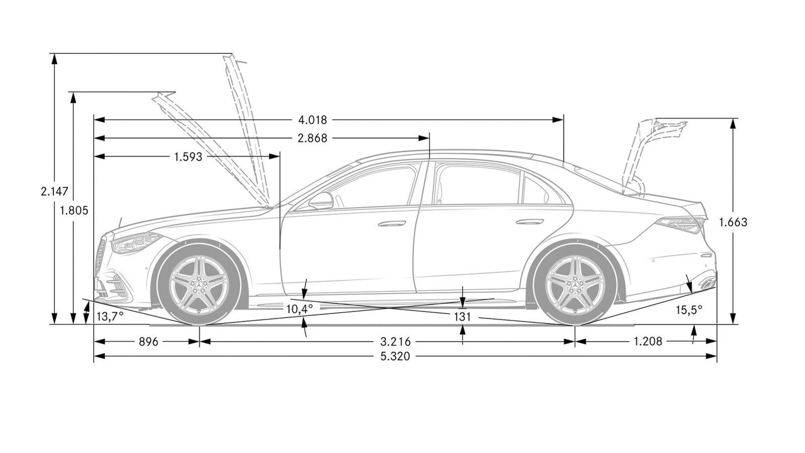 Illustration for article titled This 2021 Mercedes-Benz S-Classs Back Wheel Is Not Broken
